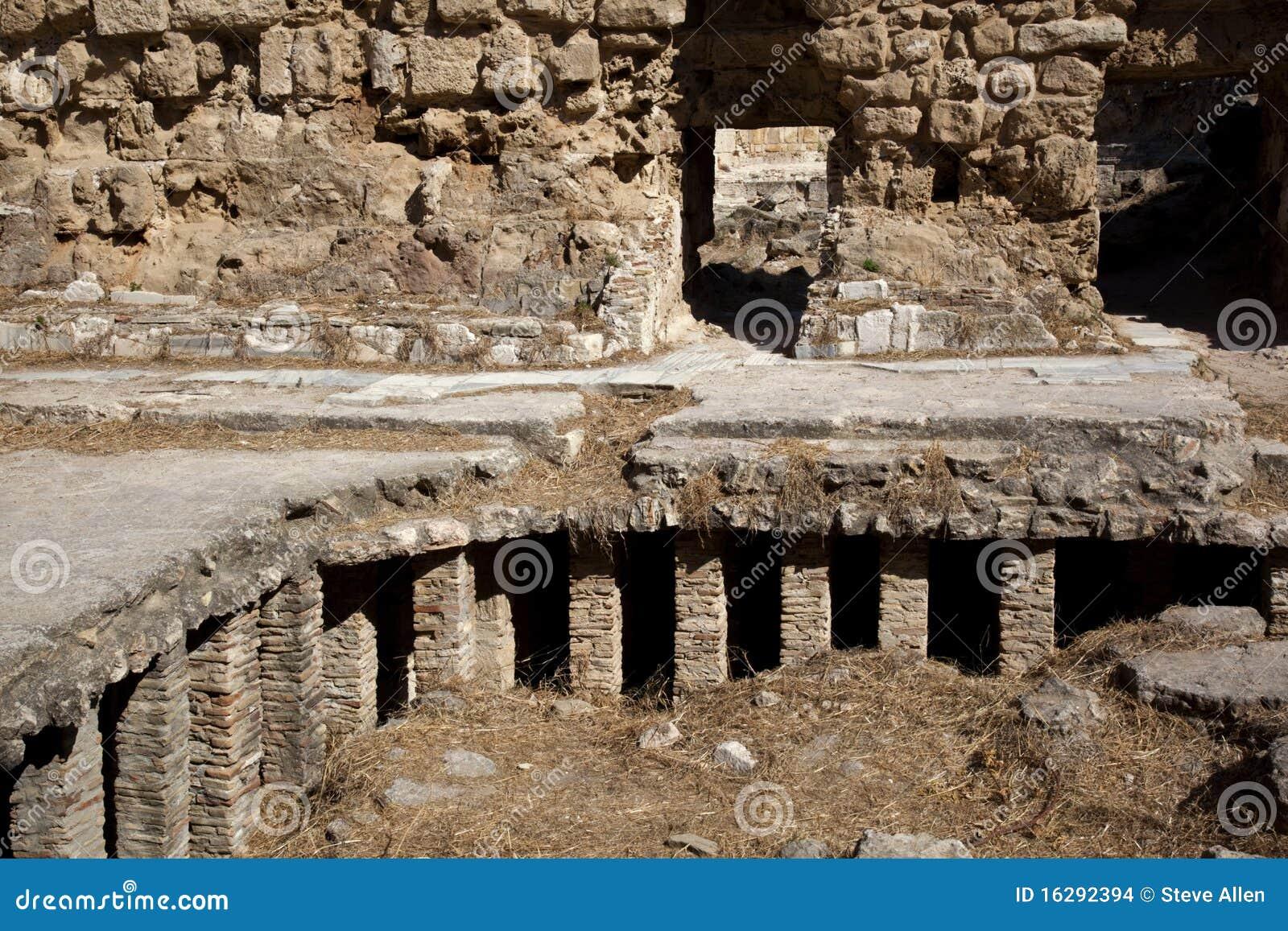 chauffage par le sol romain images stock image 16292394. Black Bedroom Furniture Sets. Home Design Ideas