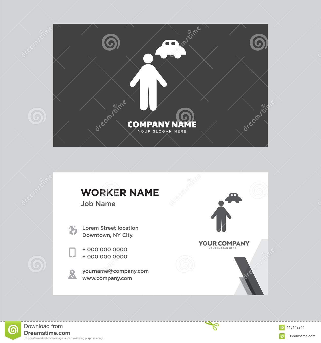 Chauffeur business card design editorial stock image illustration chauffeur business card design template visiting for your company modern horizontal identity card vector colourmoves