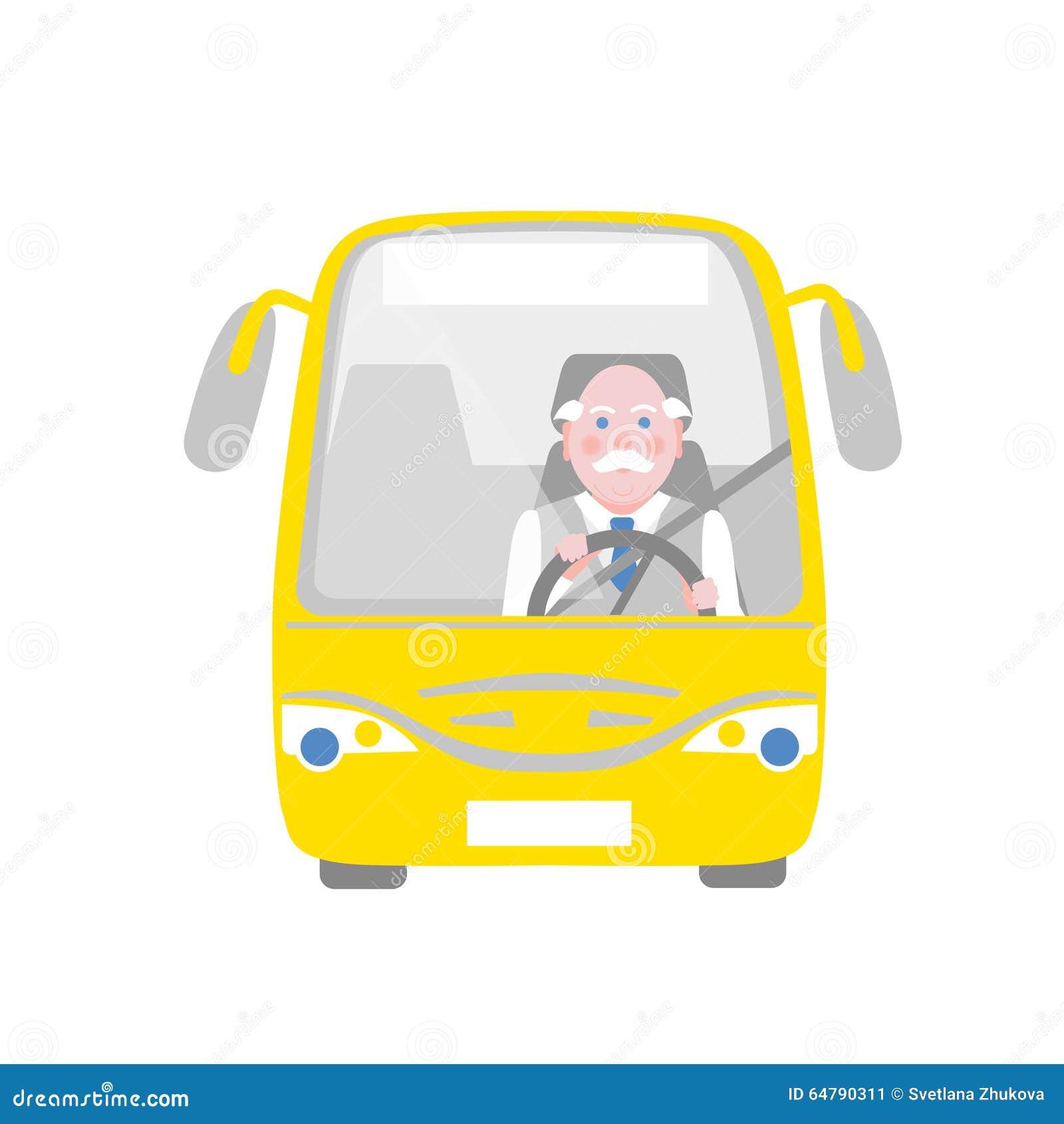chauffeur de bus illustration de vecteur illustration du jaune 64790311. Black Bedroom Furniture Sets. Home Design Ideas