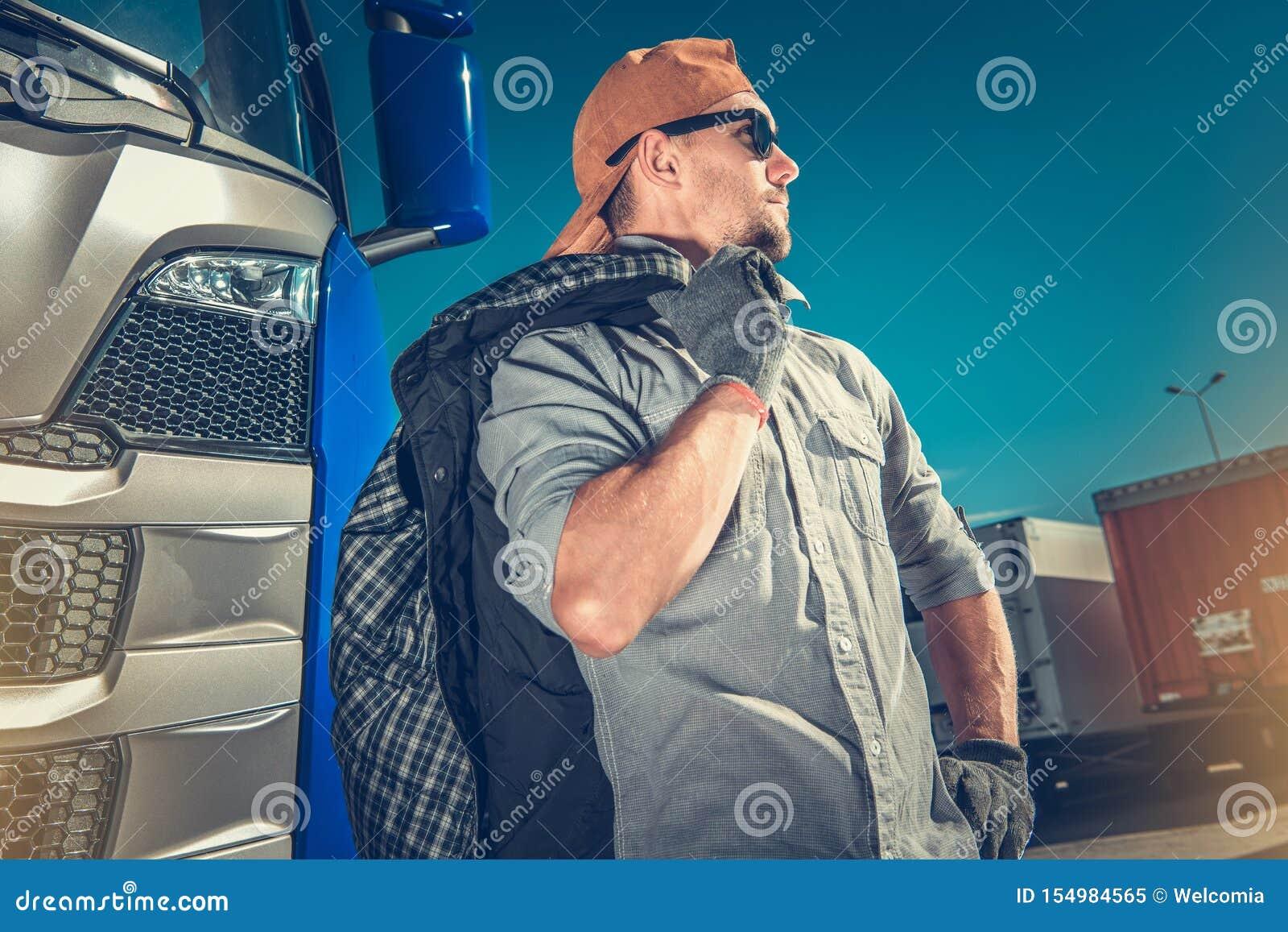 Chauffeur de camion professionnel