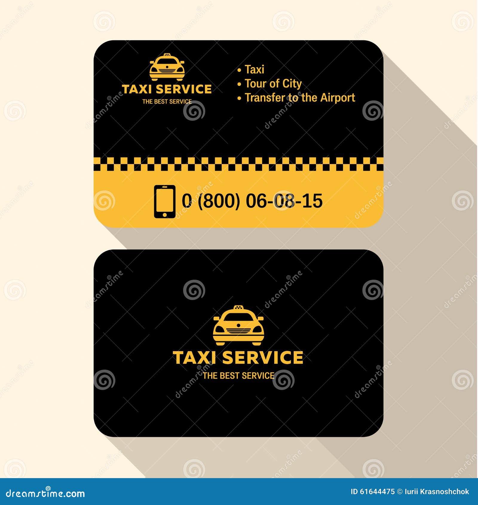 Chauffeur De Taxi Carte Visite Professionnelle La Mode Moderne Plat