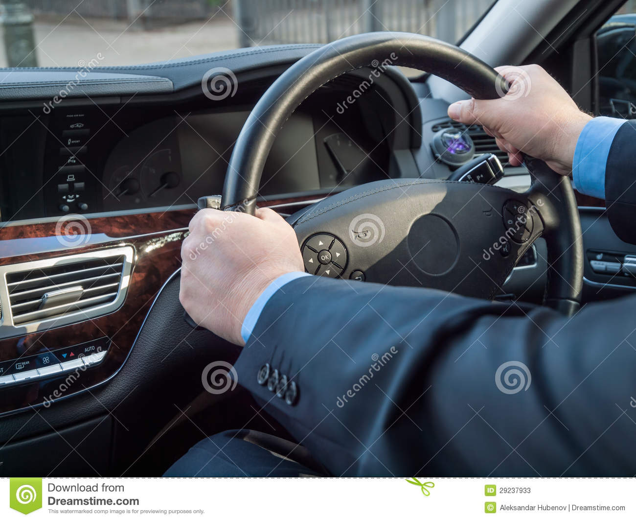 Chauffeur 39 S Hands Stock Photos Image 29237933