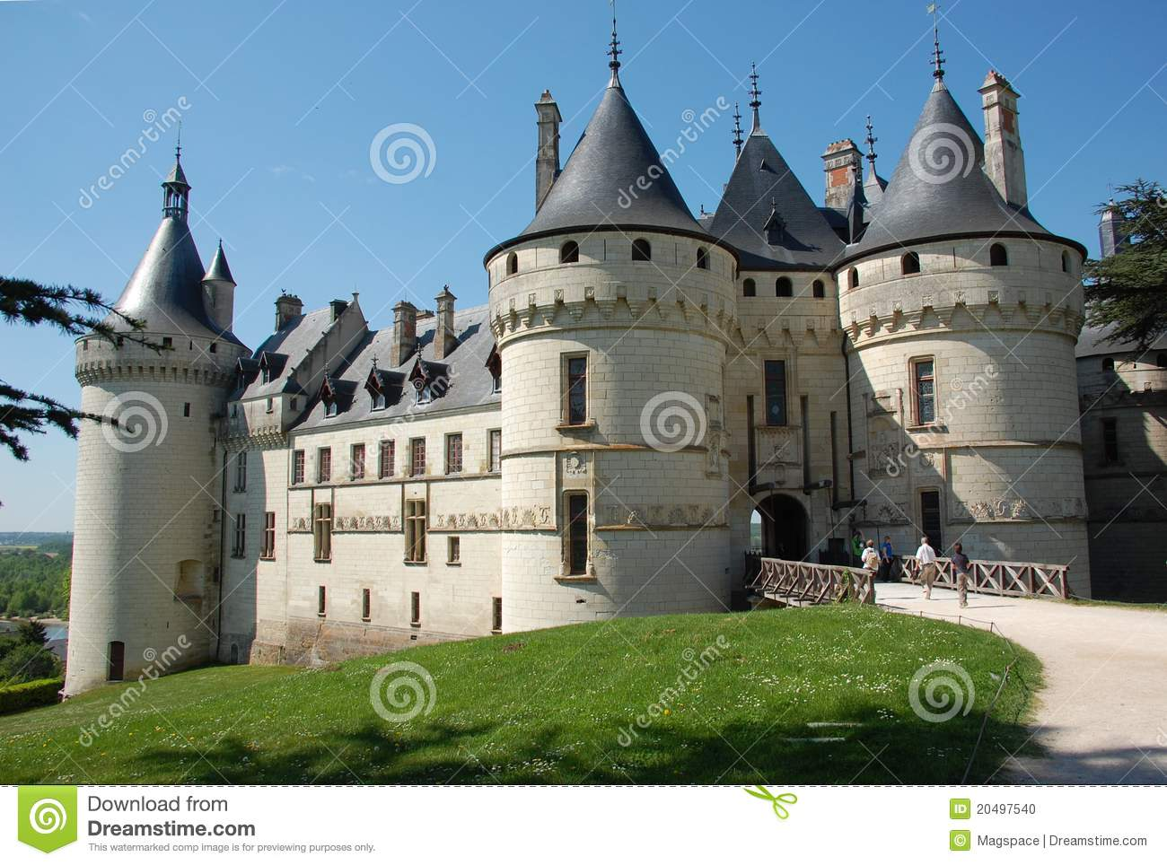 chaumont sul castello del loire fotografia stock immagine 20497540. Black Bedroom Furniture Sets. Home Design Ideas