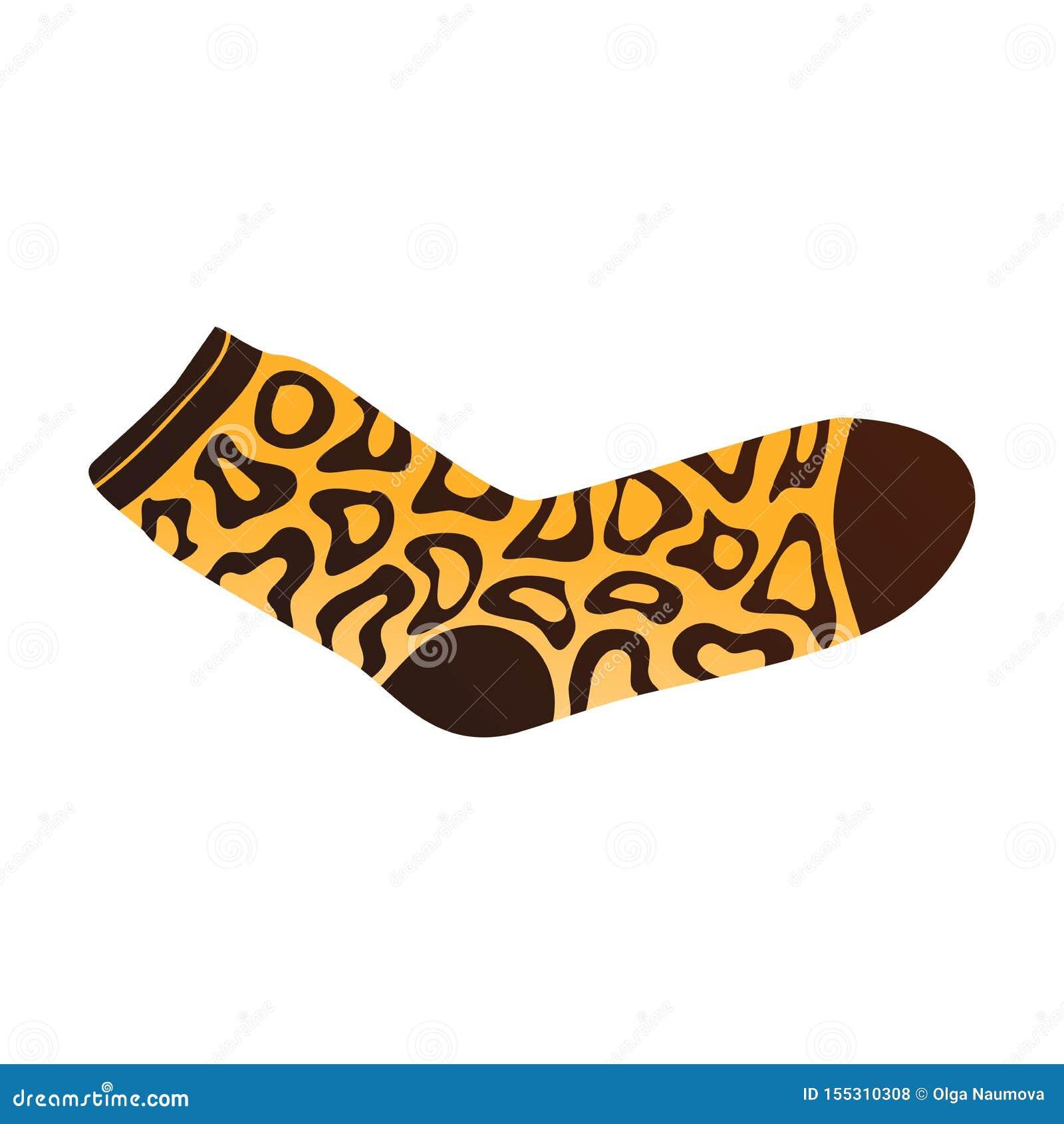Chaussette brune jaune de couleur avec les signes africains ornementaux