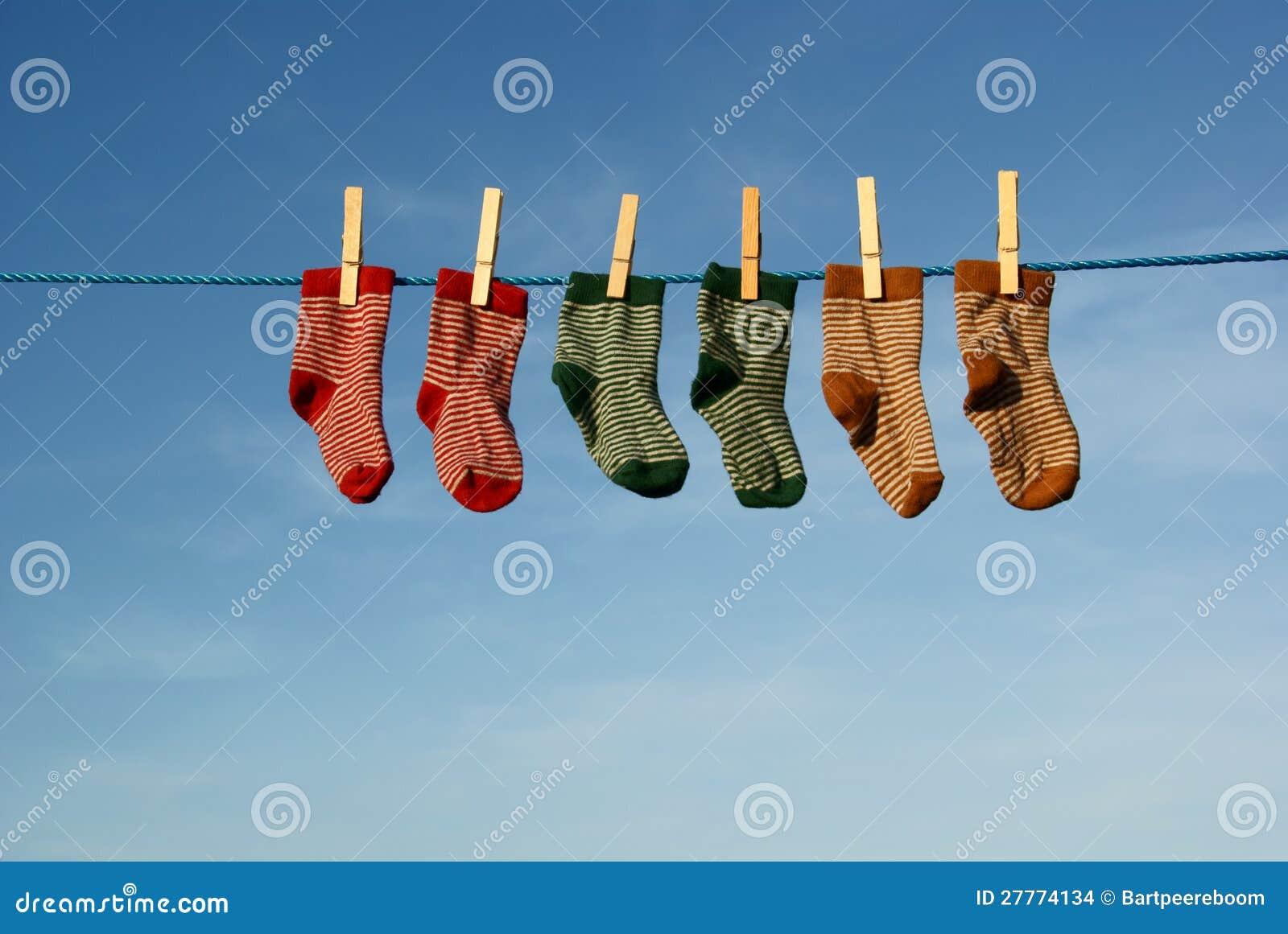Chaussettes colorées de chéri