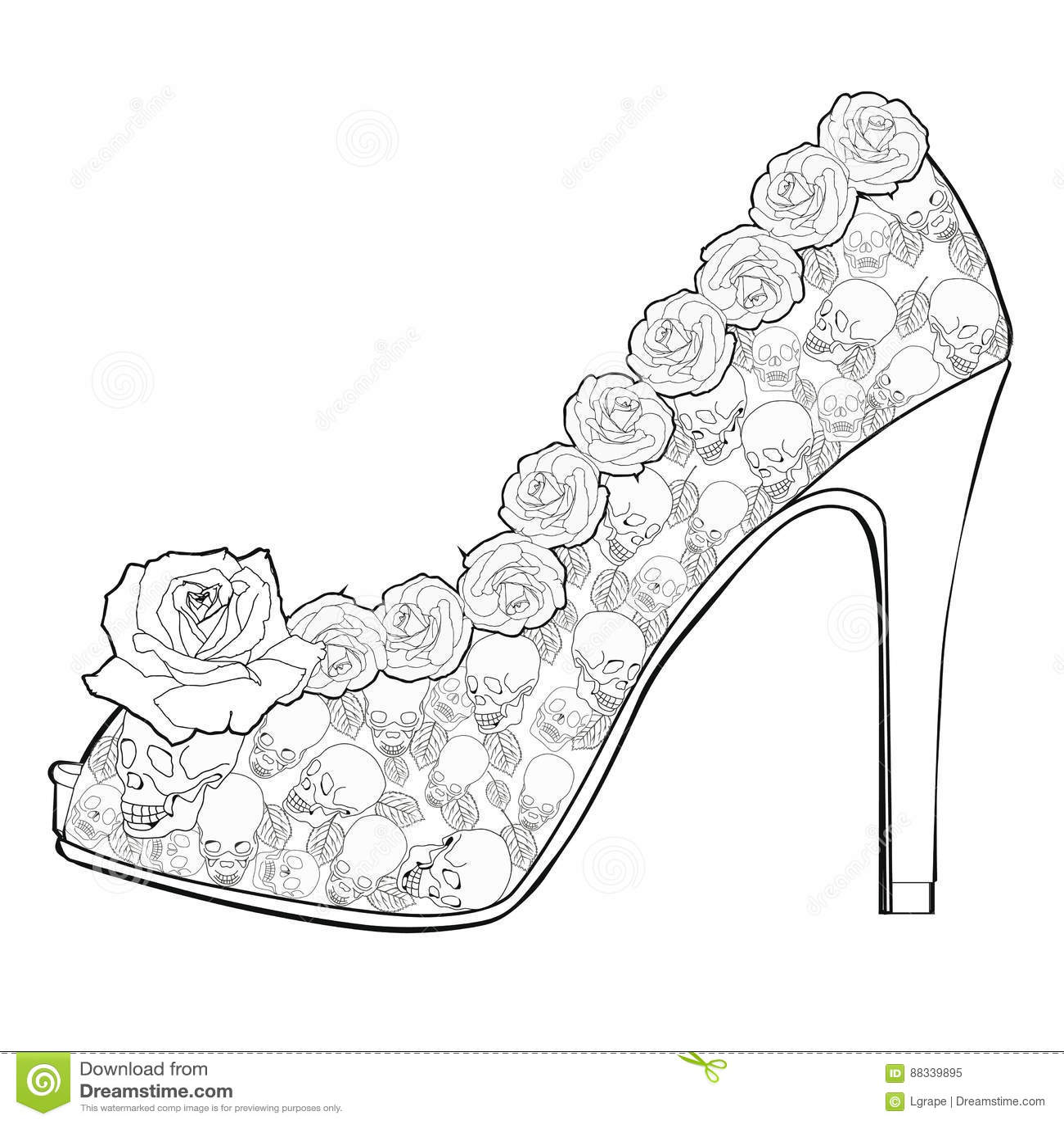 coloriage chaussure de fila