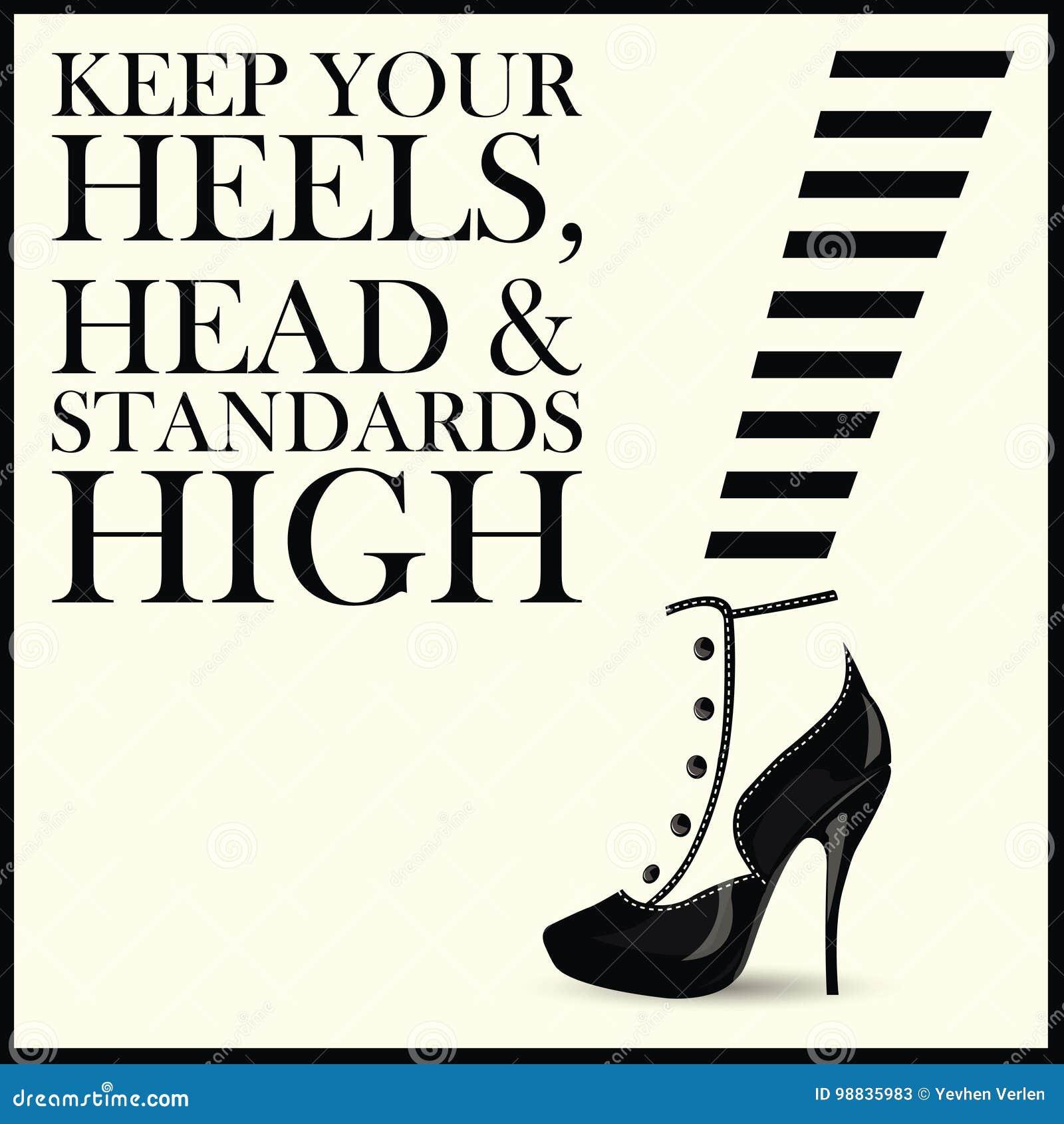 De Mode Des Avec Illustration Citations Chaussure Femme 6vECwvq