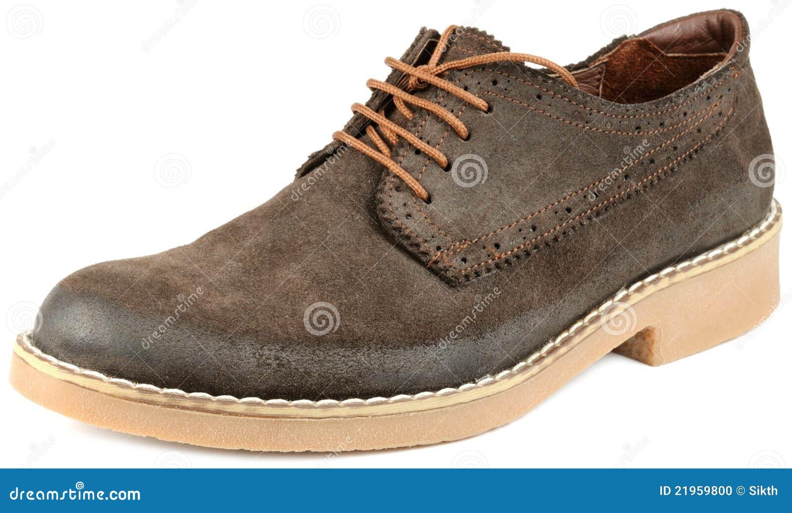 Chaussure de suède de Brown d hommes