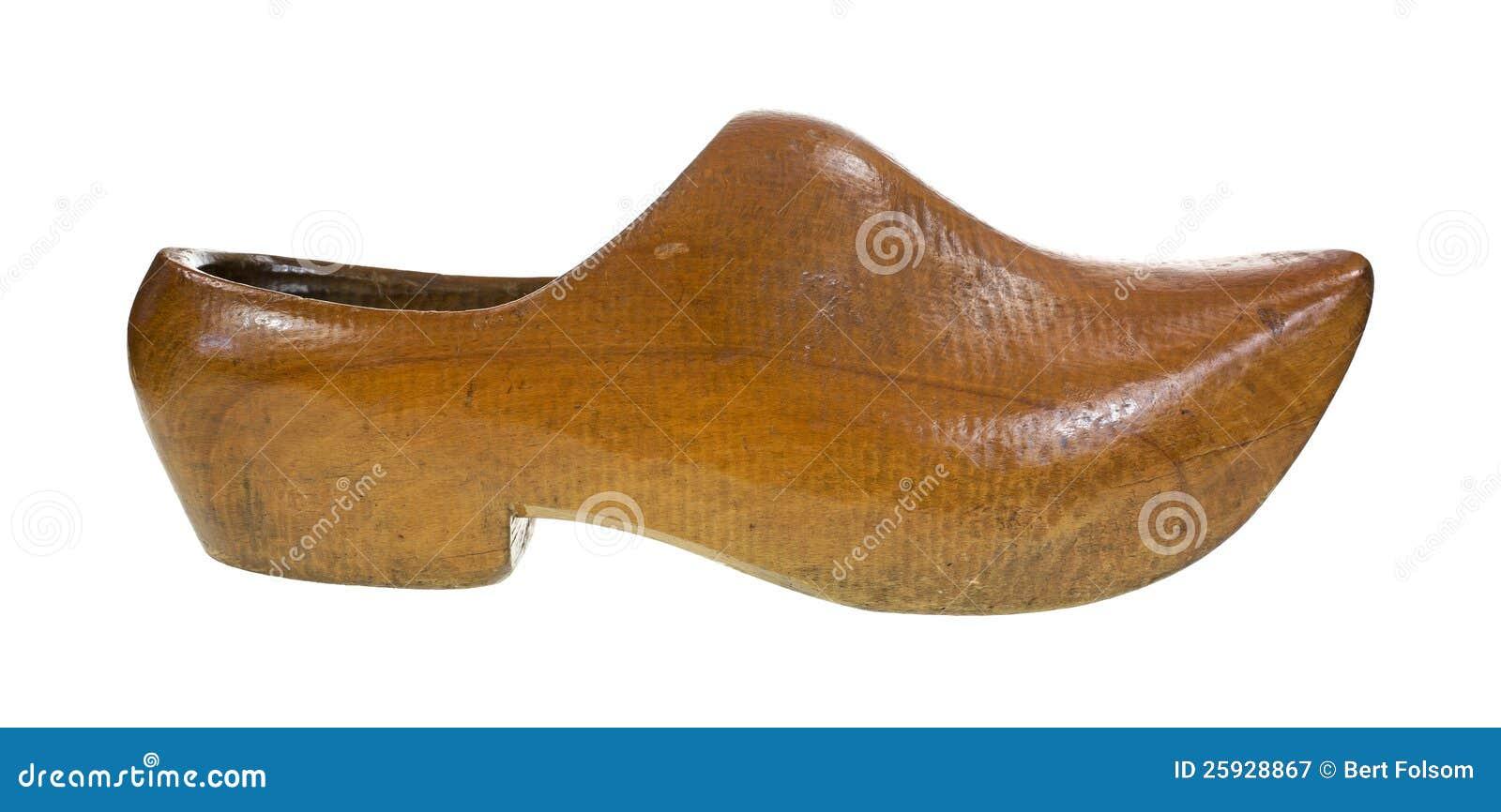 Chaussure en bois lourde photographie stock libre de - Rangement chaussures en bois ...