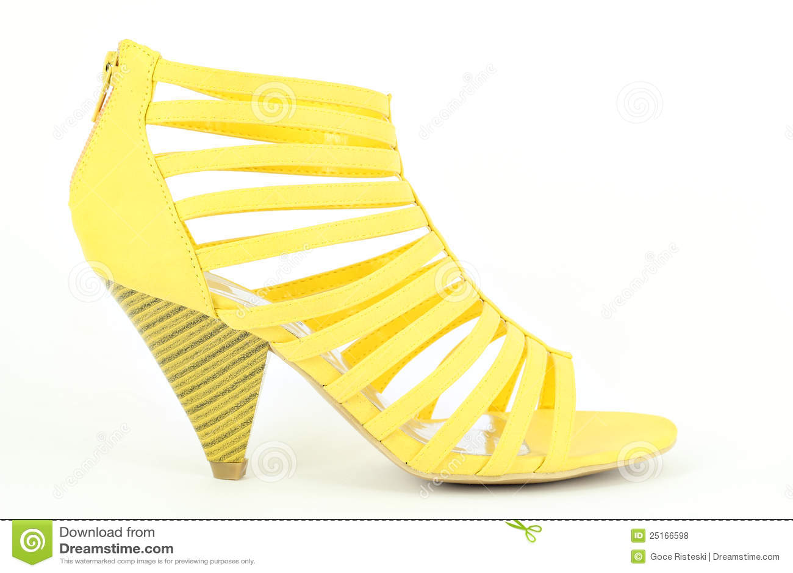 Chaussure Chaussure Chaussure jaune d'été photo Image du fashionable 25166598 dd3a22