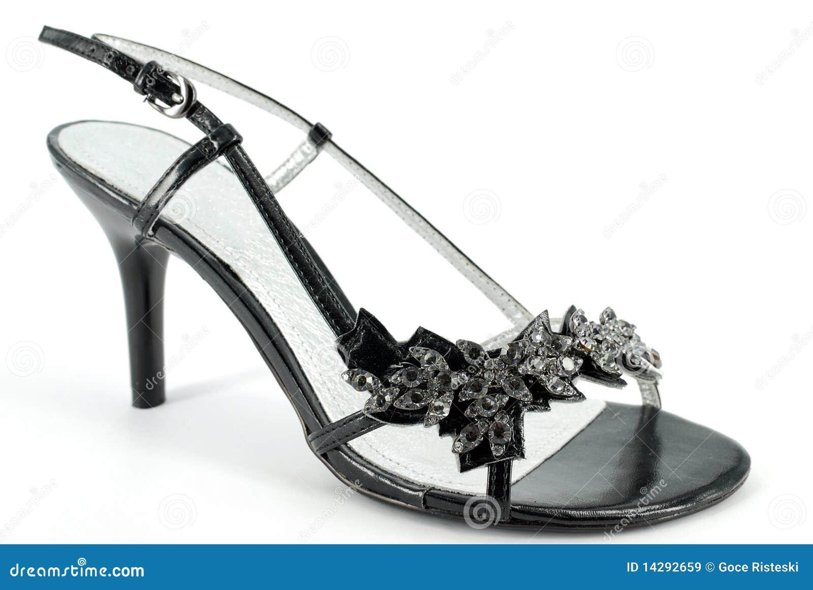 chaussure noire de haut talon de femme image stock image du su de pied 14292659. Black Bedroom Furniture Sets. Home Design Ideas