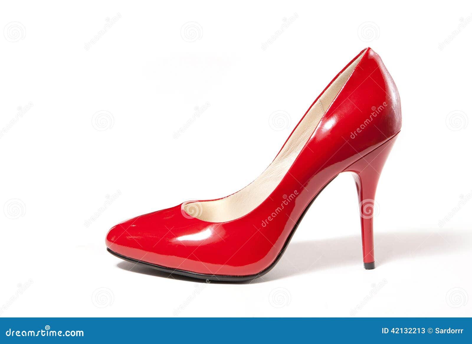 chaussure rouge de femmes de haut talon photo stock image 42132213. Black Bedroom Furniture Sets. Home Design Ideas
