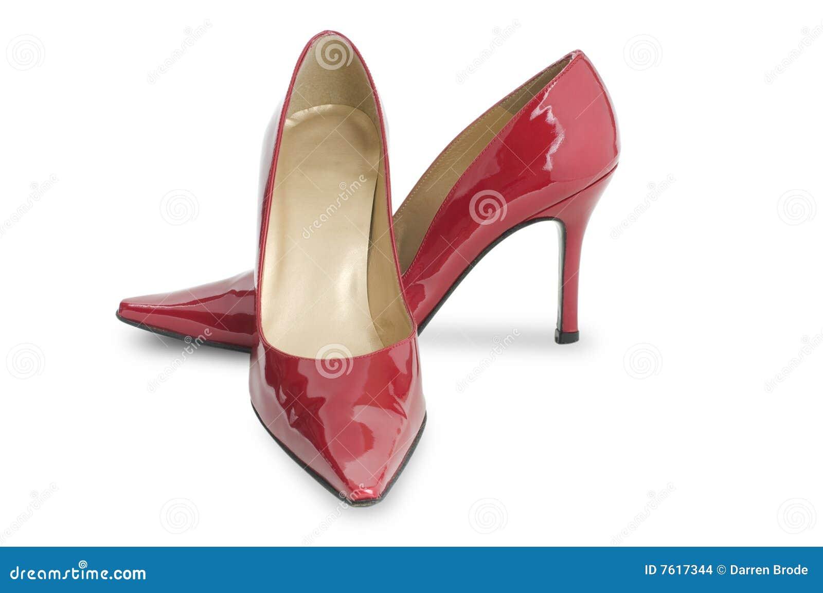 chaussure rouge de haut talon images stock image 7617344. Black Bedroom Furniture Sets. Home Design Ideas