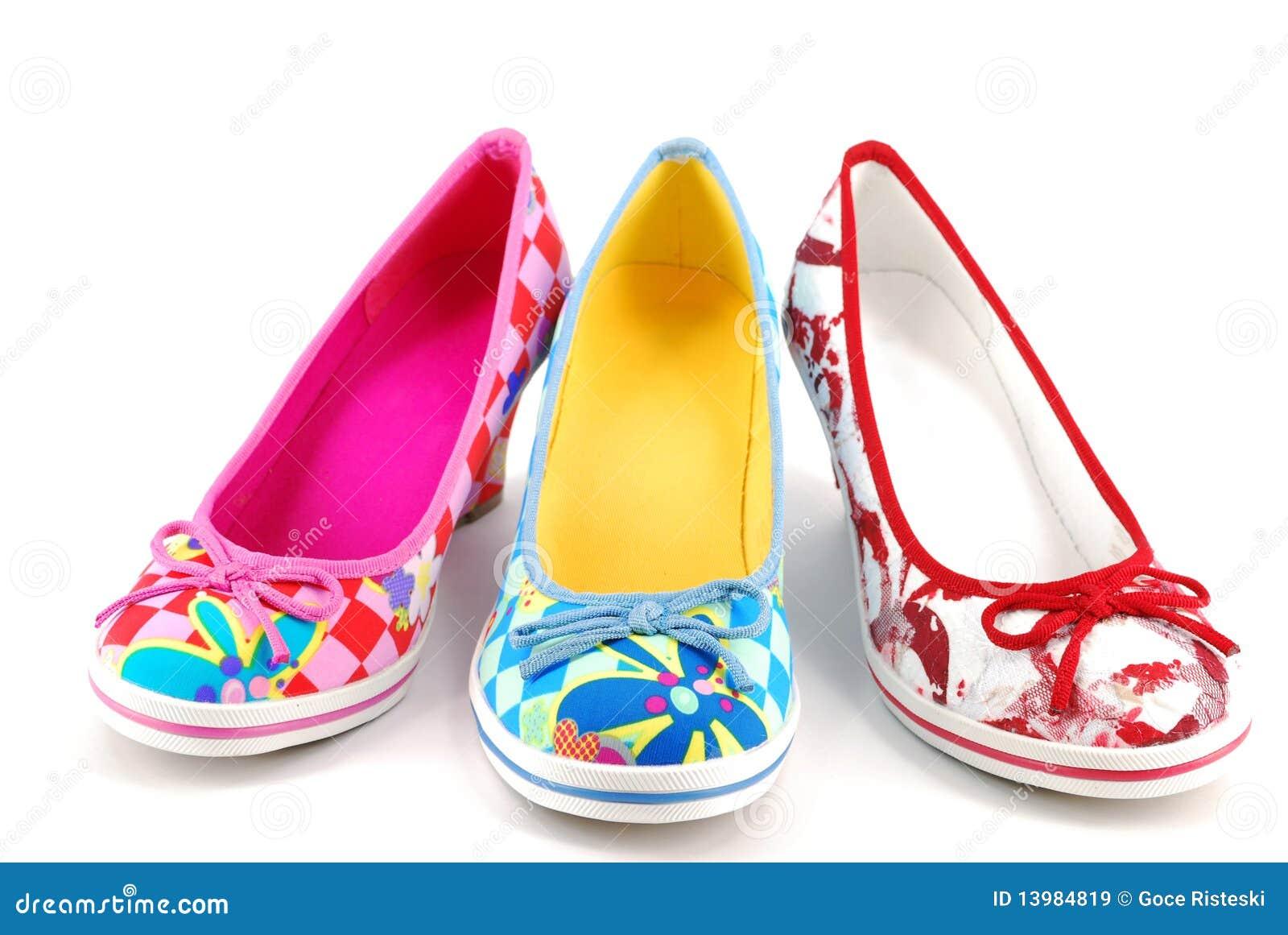 Femme Chaussures du Colorées stock Image Image De I7mgYvf6yb