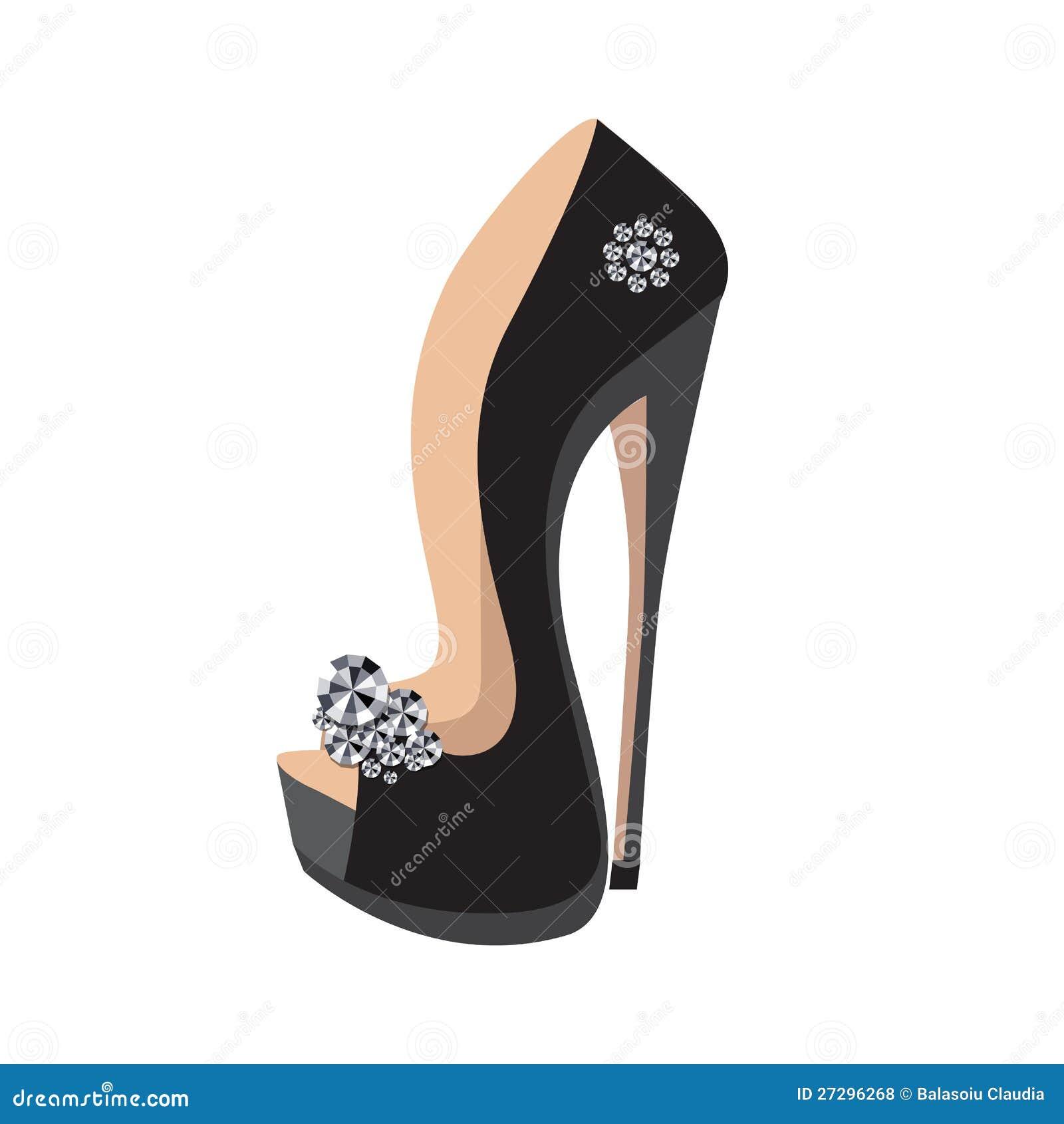 Super Chaussures De Luxe Sur Un Haut Talon Illustration de Vecteur  CR43