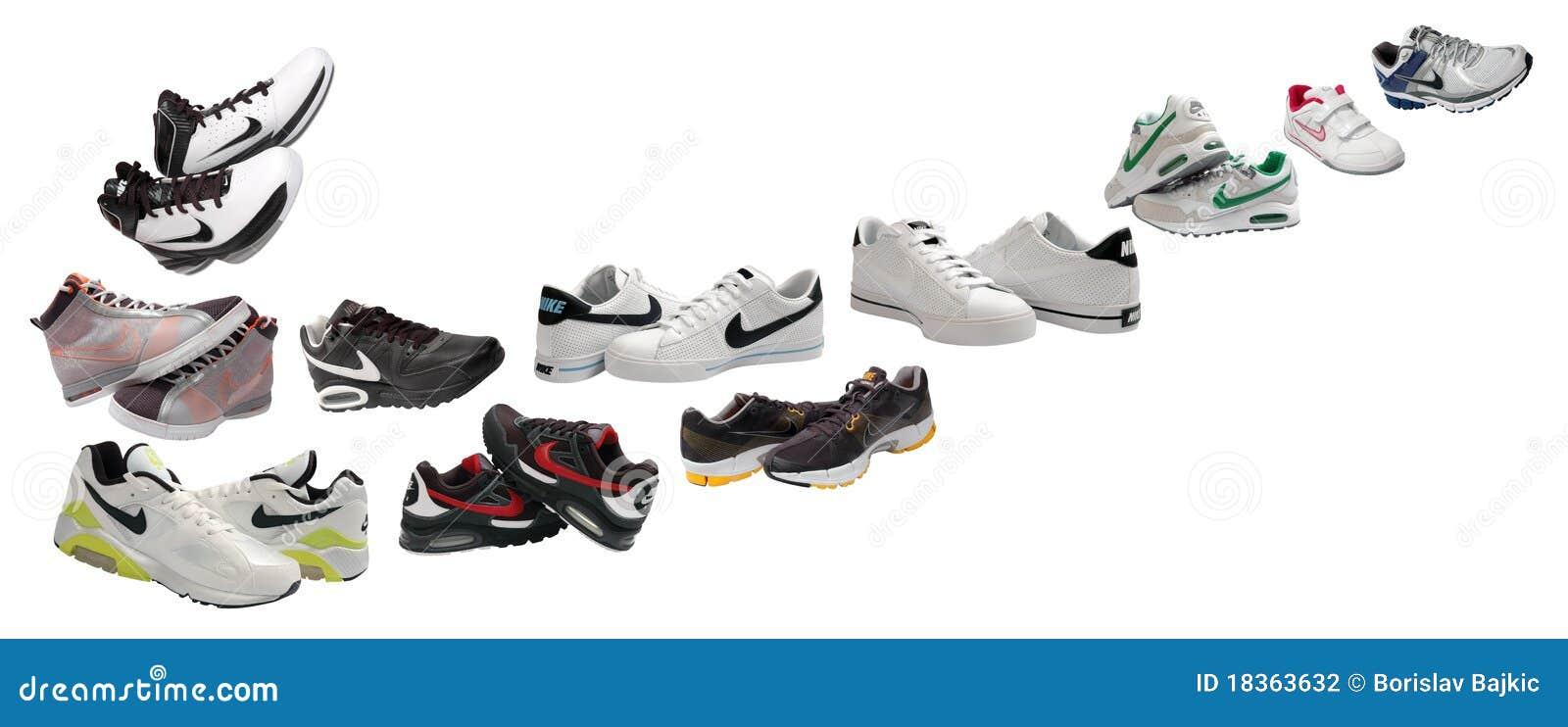 Chaussures de sport nike photographie é Image du éditorial