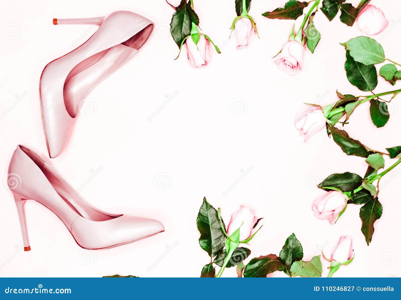 Sur Femmes Le Rose Talon Pastel De De De Chaussures Haut En zpUMSVGq