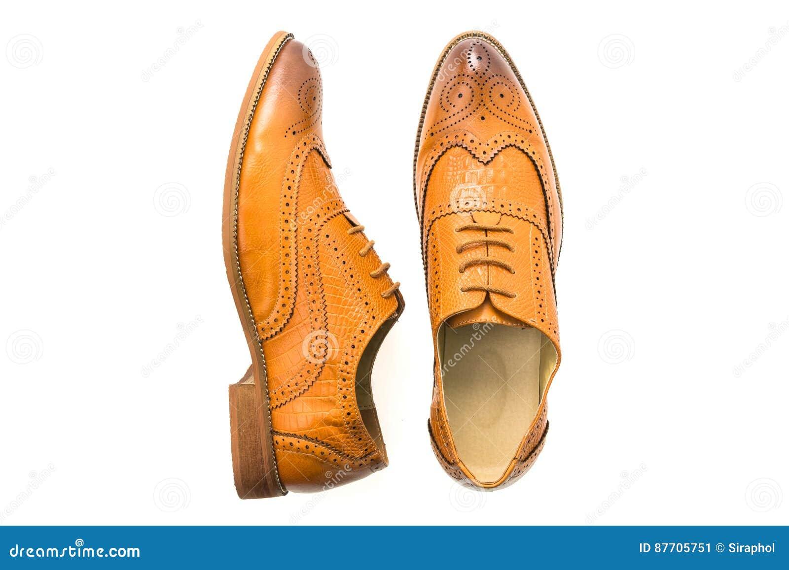 Chaussures en cuir de Brown