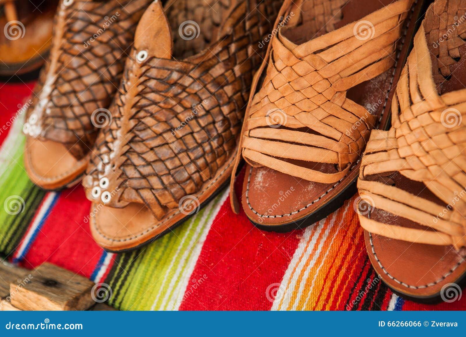 Photo Faites Chaussures De Cuir Main Sur Le Marché Mexicain QoexrCBWdE