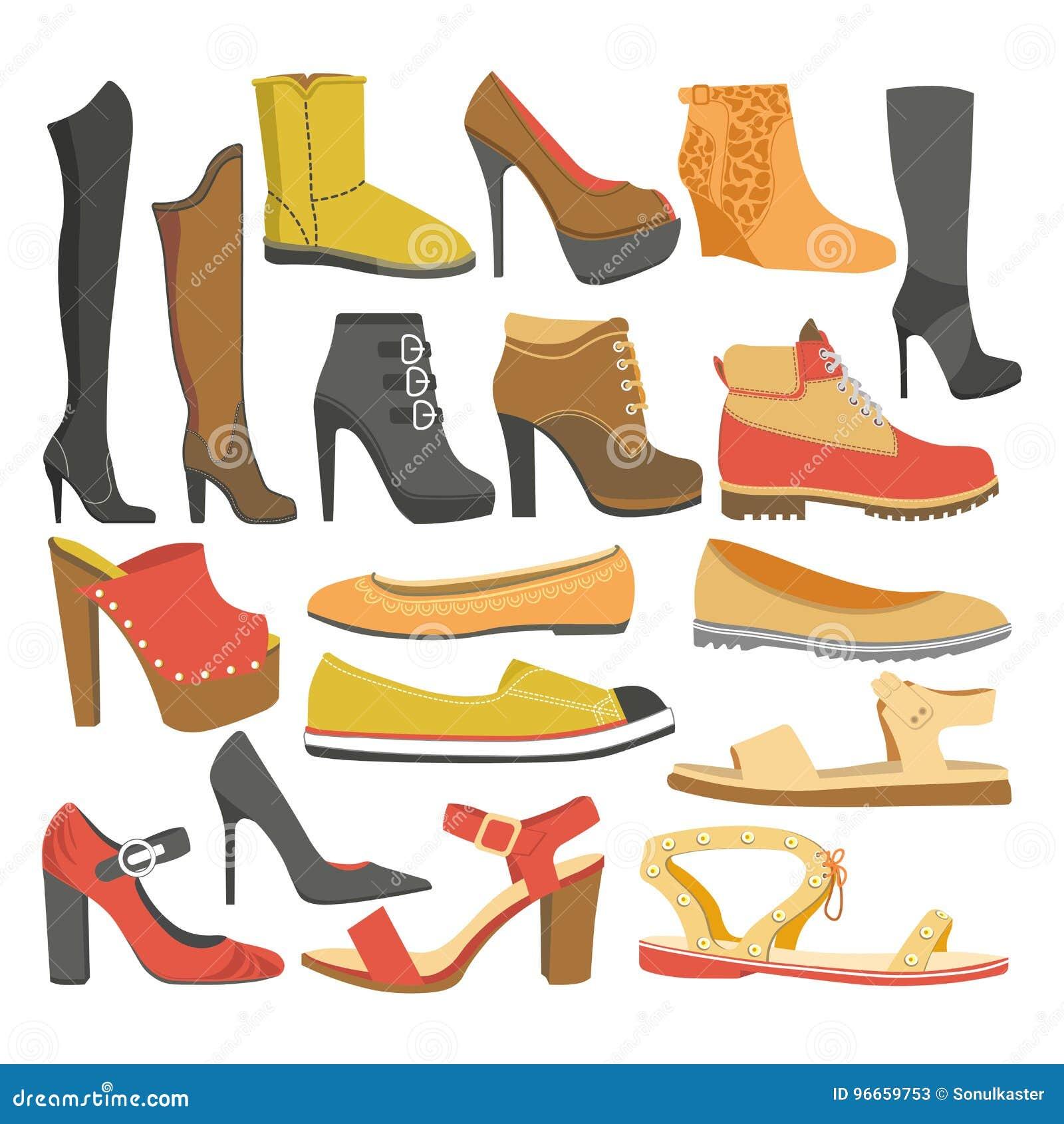 Chaussures D'isolement Types Ou Par De Appartement Icônes Femelles mwPOyvN08n