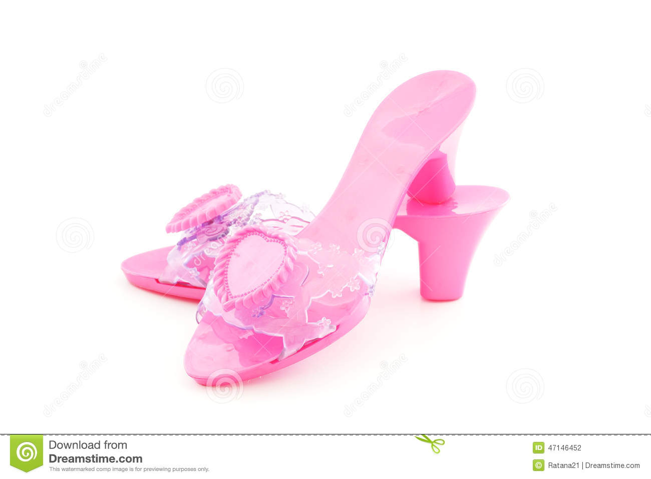 chaussures roses en plastique de talon haut pour la fille photo stock image du blanc femelle. Black Bedroom Furniture Sets. Home Design Ideas