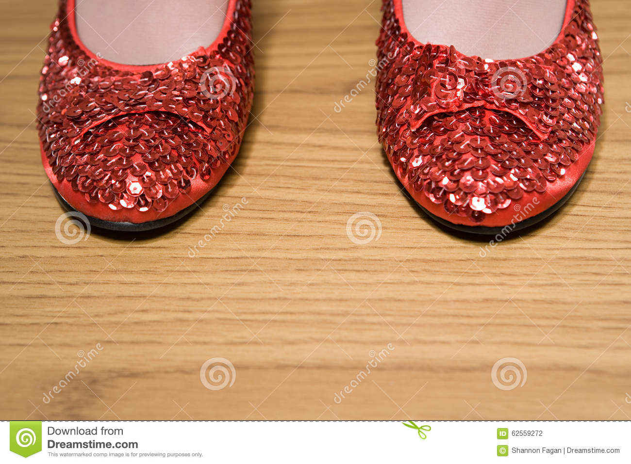 Chaussures scintillantes rouges