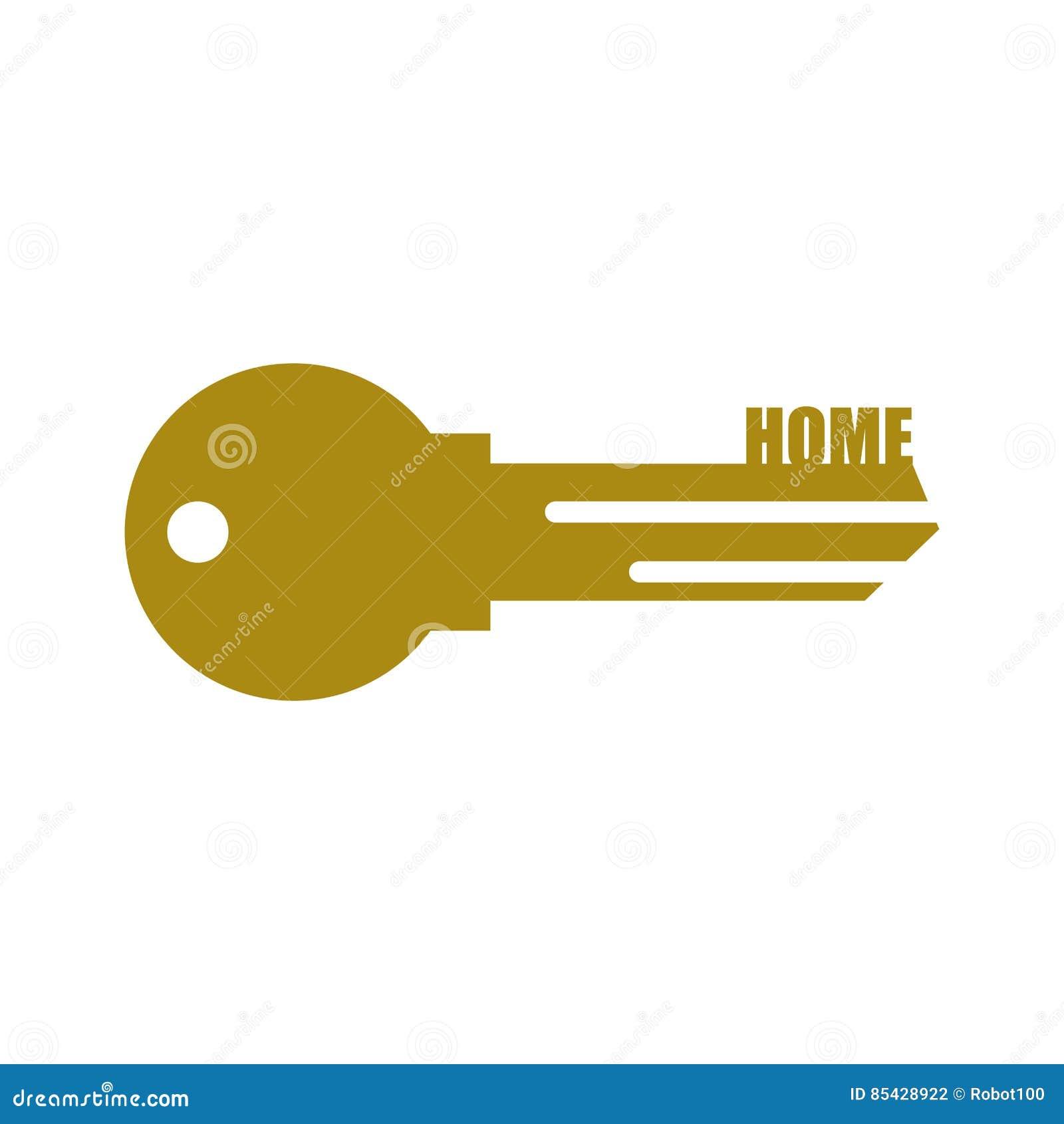 Chave da porta Clave home isolada no fundo branco