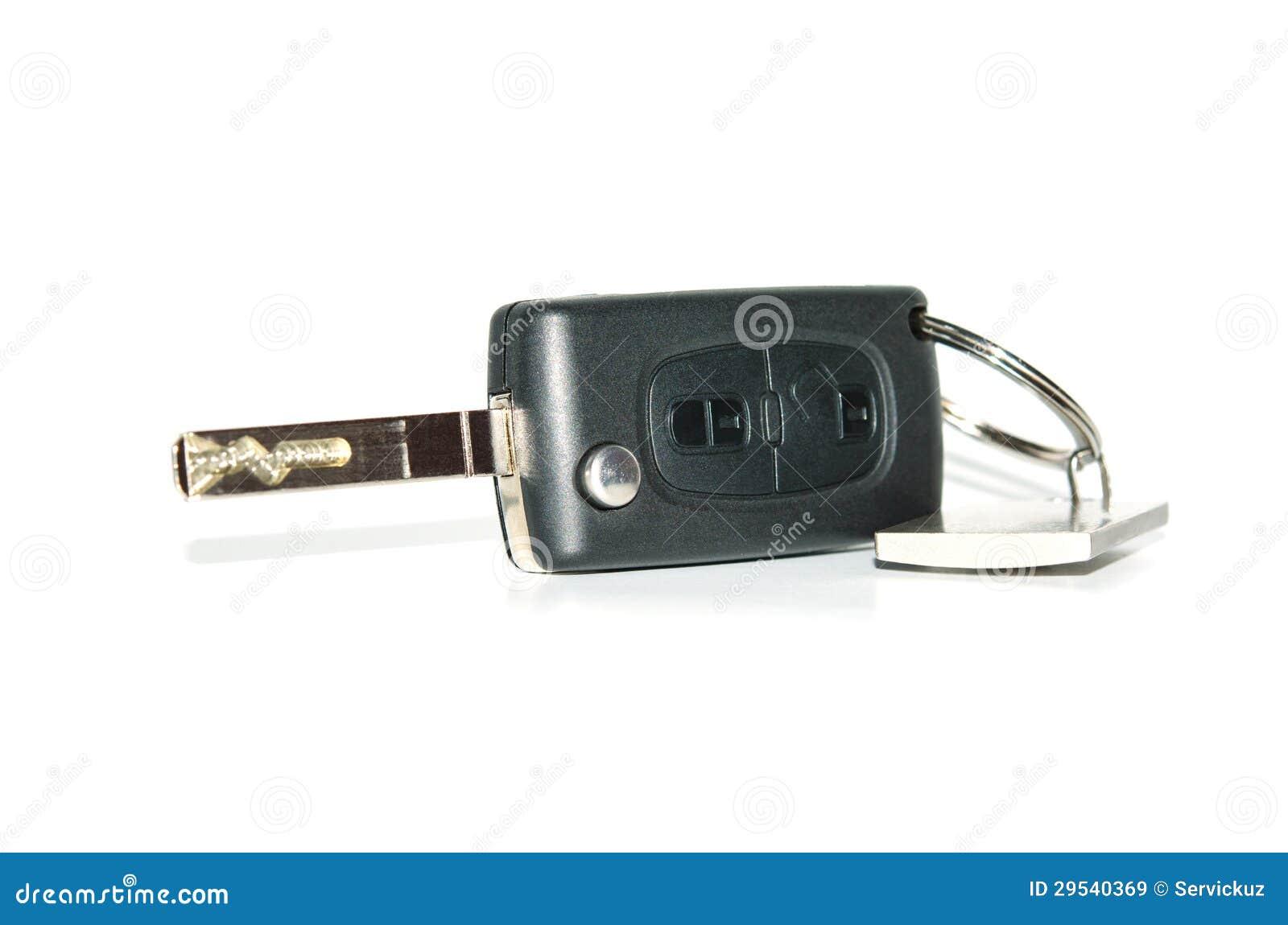 Chave de controle remoto do automóvel com keychain