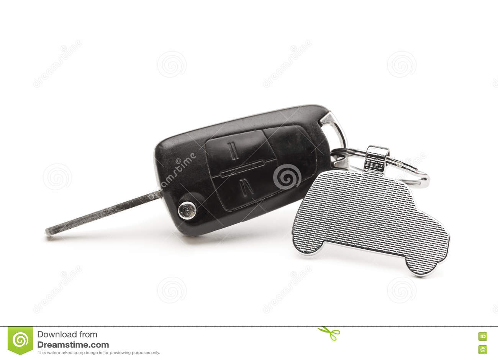 Chave do carro com uma porta-chaves sob a forma de um carro