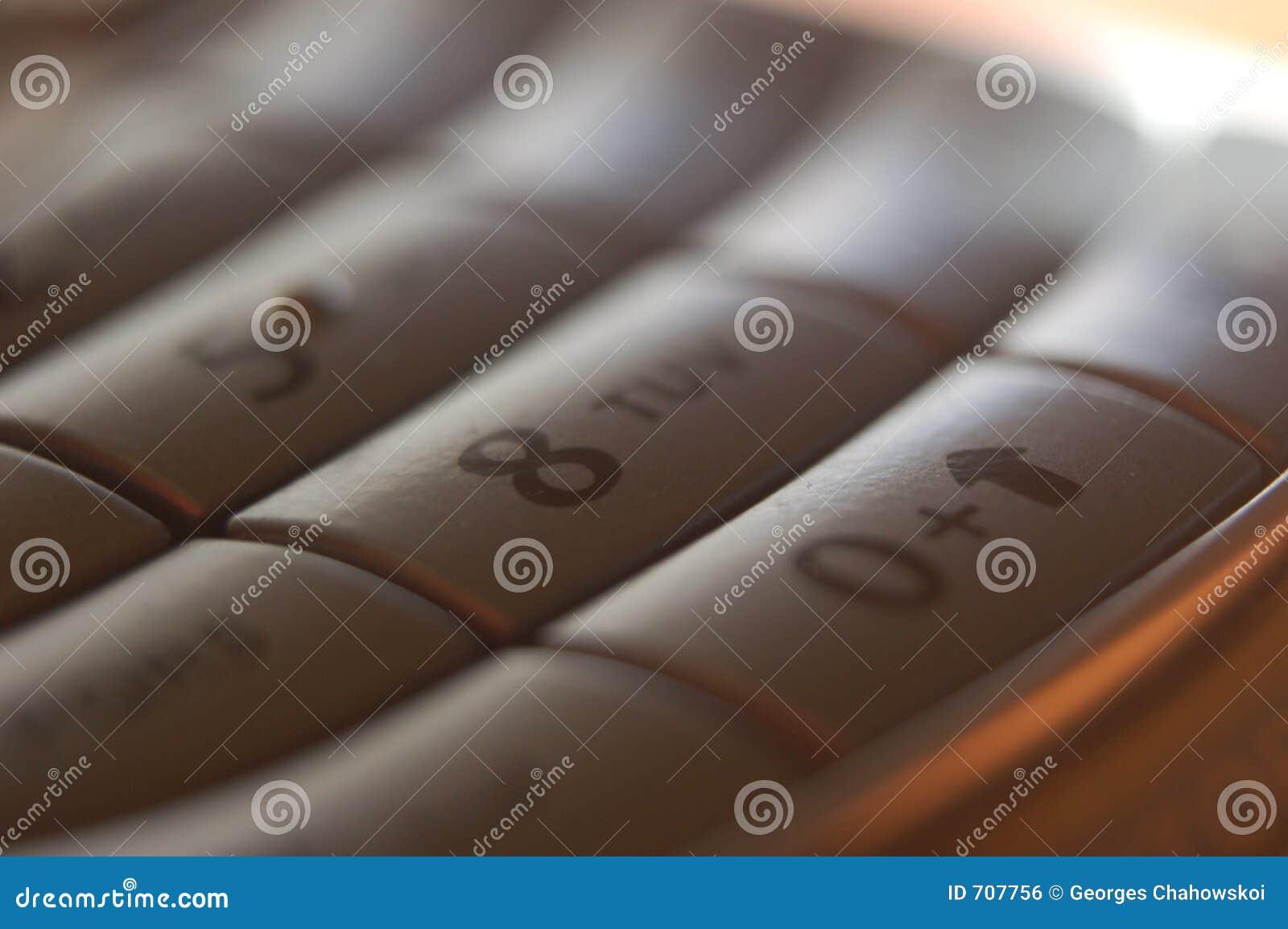 Chave do telefone de pilha 8