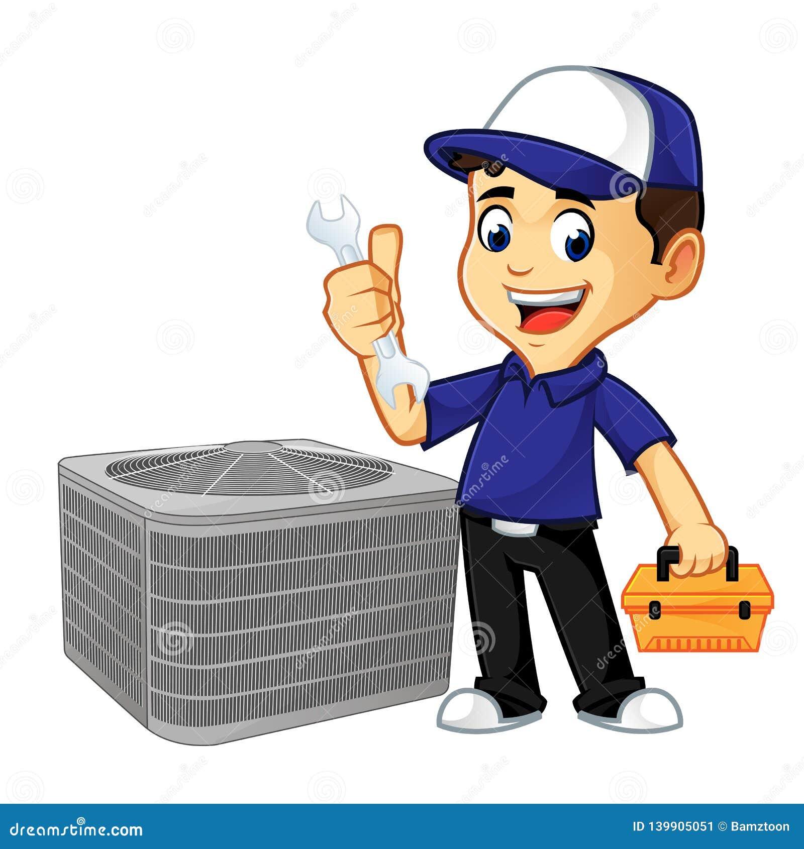 Chave e caixa de ferramentas da posse do líquido de limpeza ou do técnico da ATAC