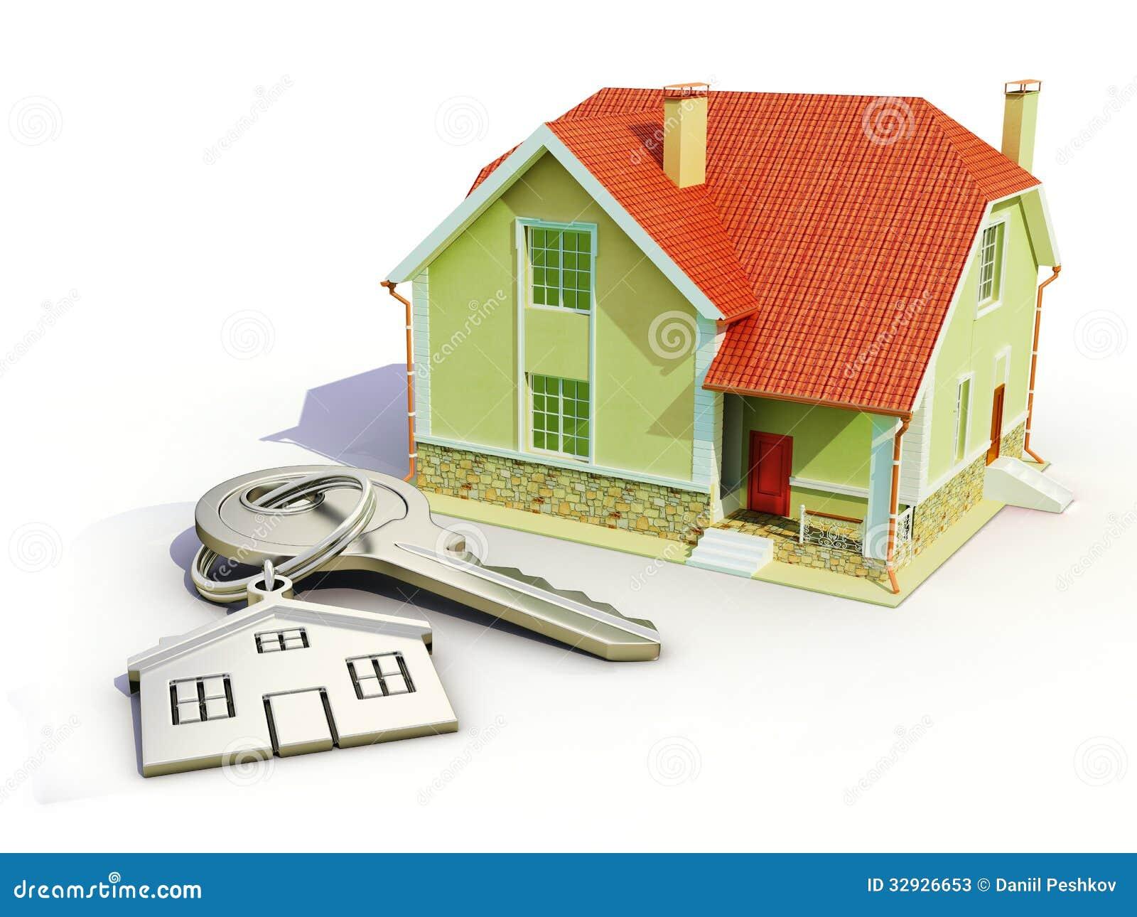 Chave e casa fotos de stock imagem 32926653 for Registrazione contratto preliminare