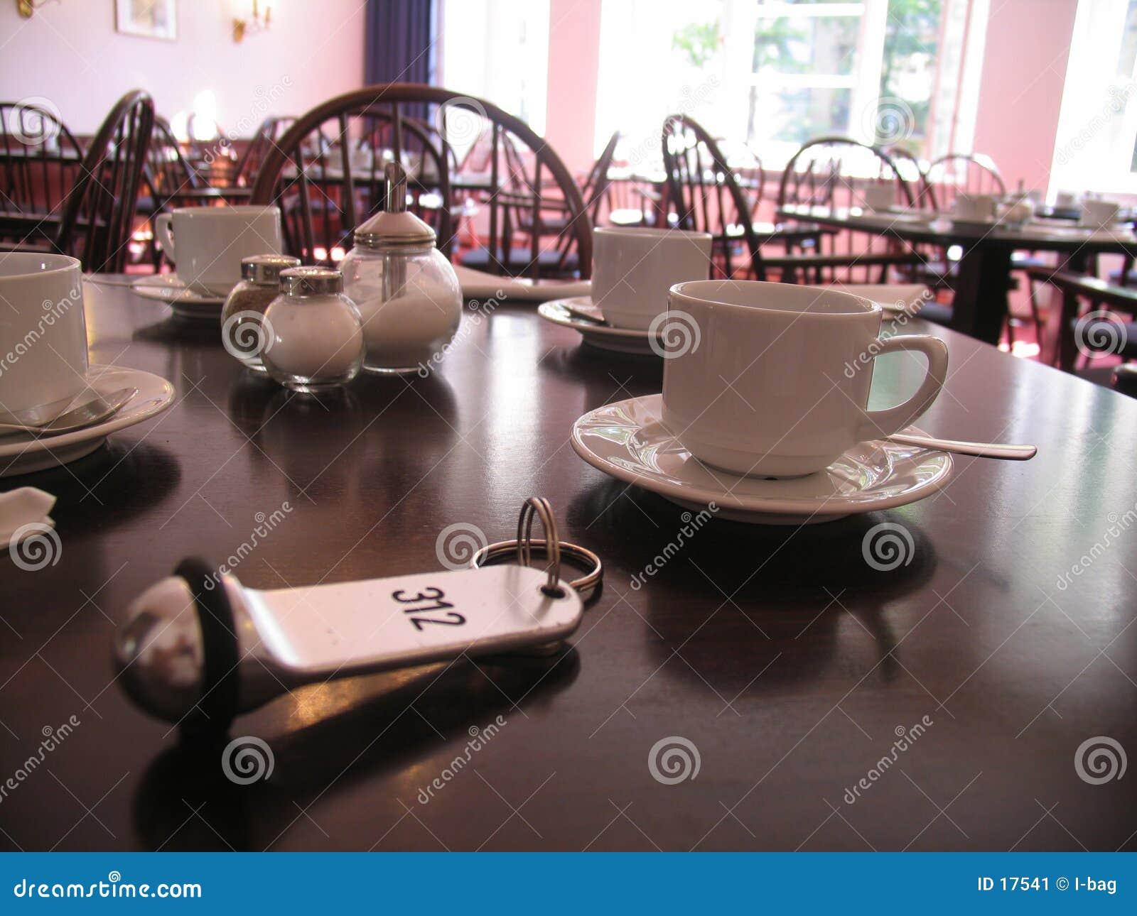 Chave na tabela de pequeno almoço