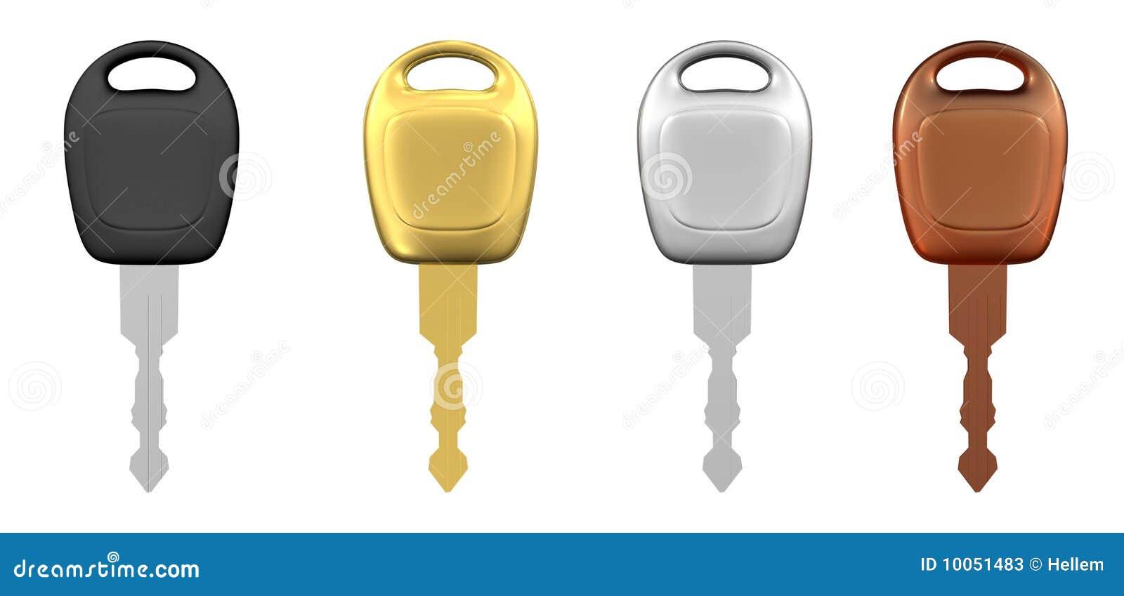 Chaves do carro de metal isoladas