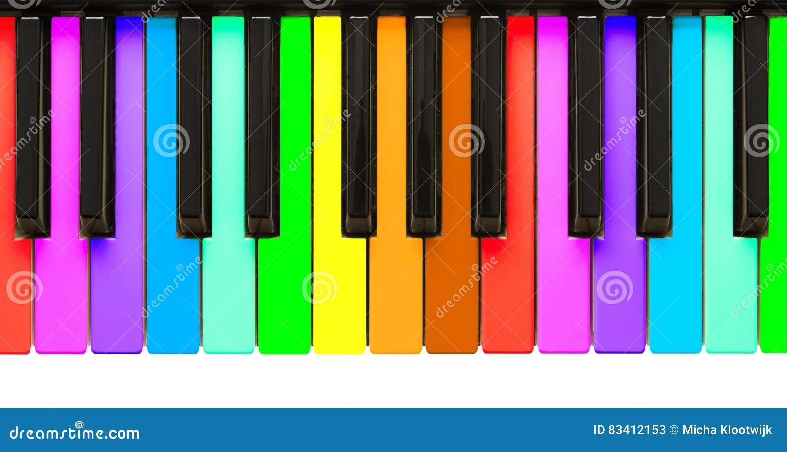 Chaves do piano do arco-íris