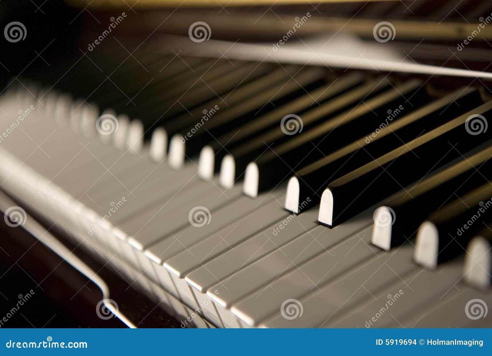 Chaves do piano do jazz