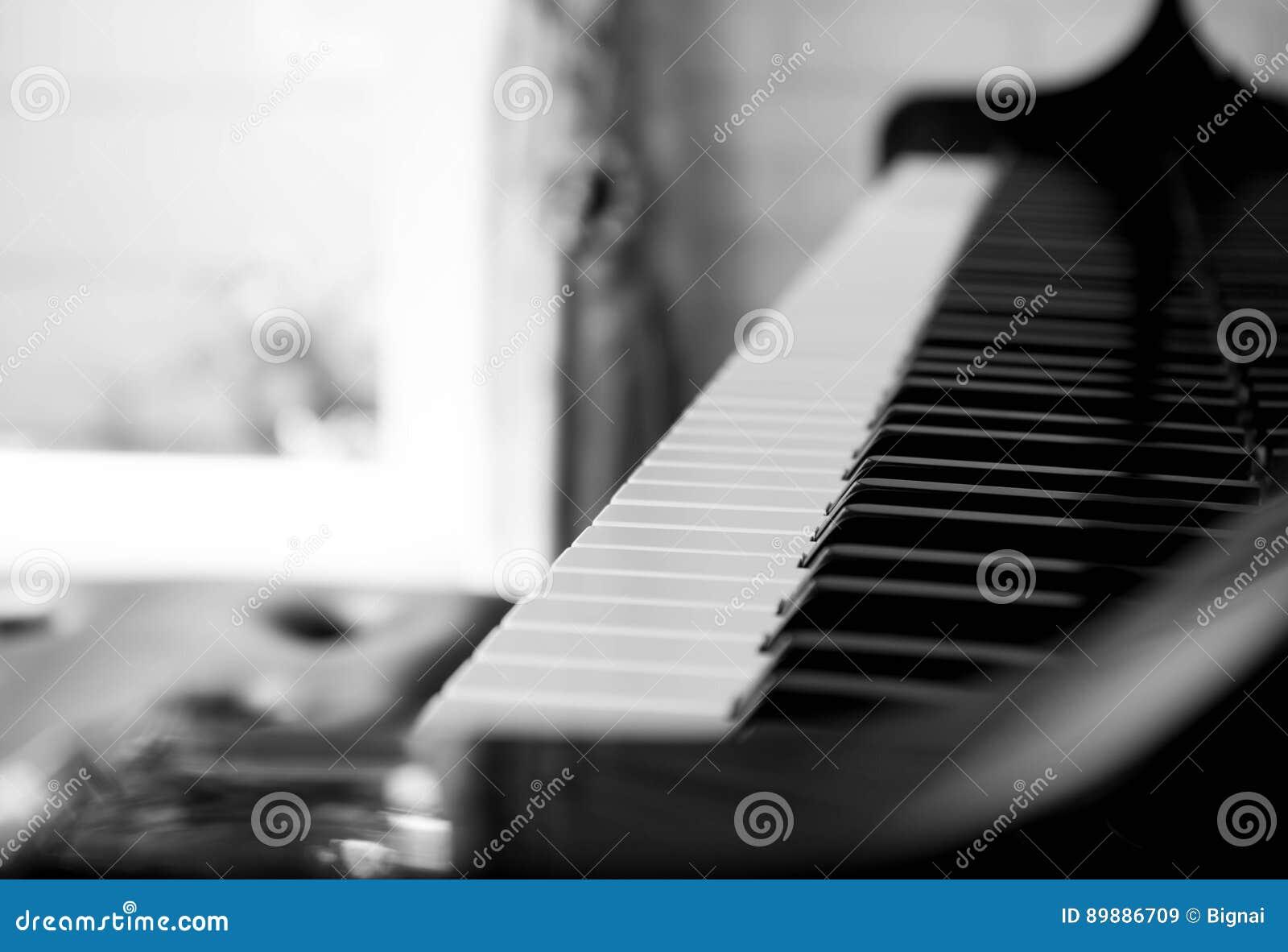 Chaves selecionadas do piano do foco