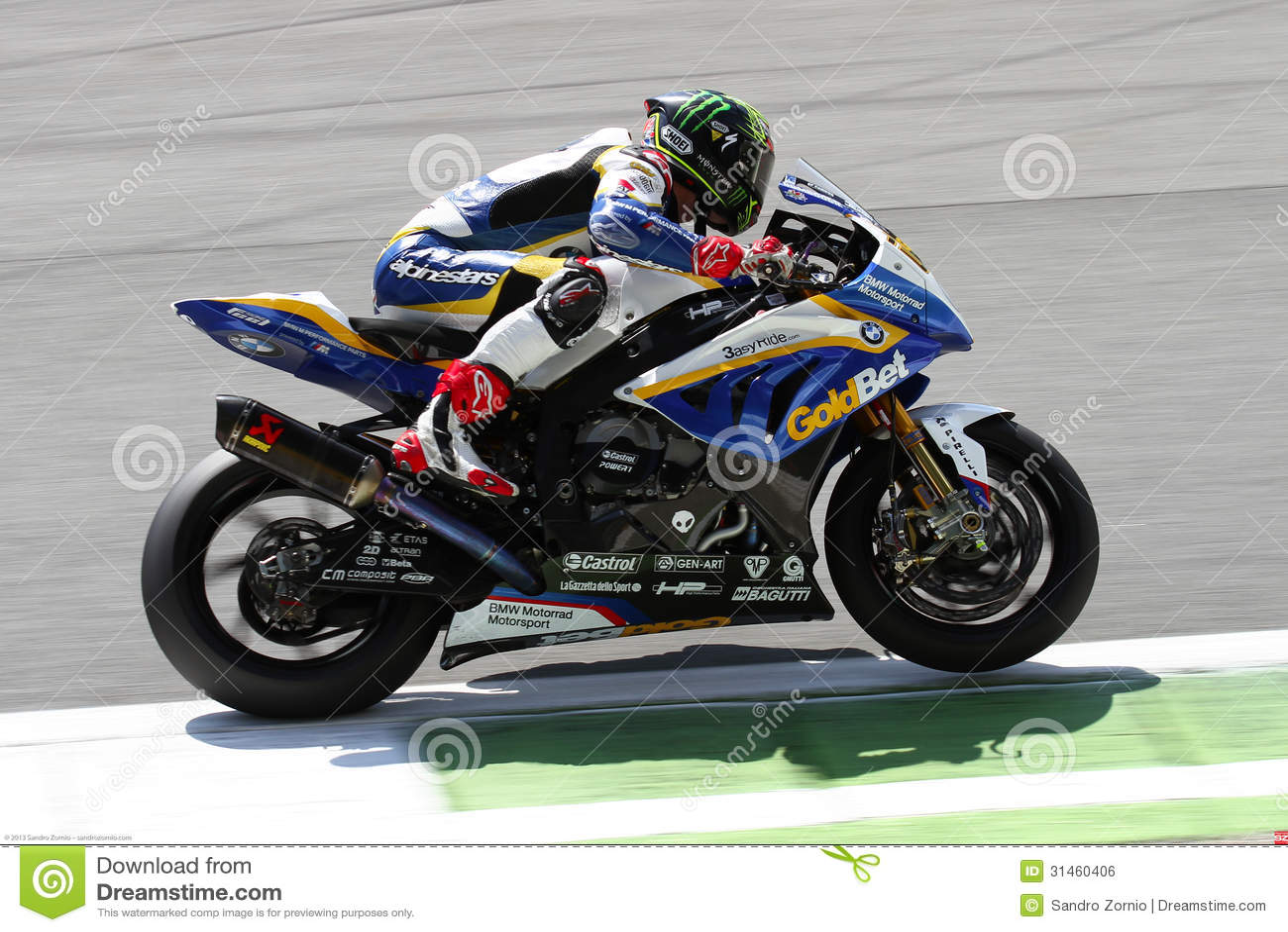 Chaz Davies #19 On BMW S1000 RR With BMW Motorrad GoldBet ...
