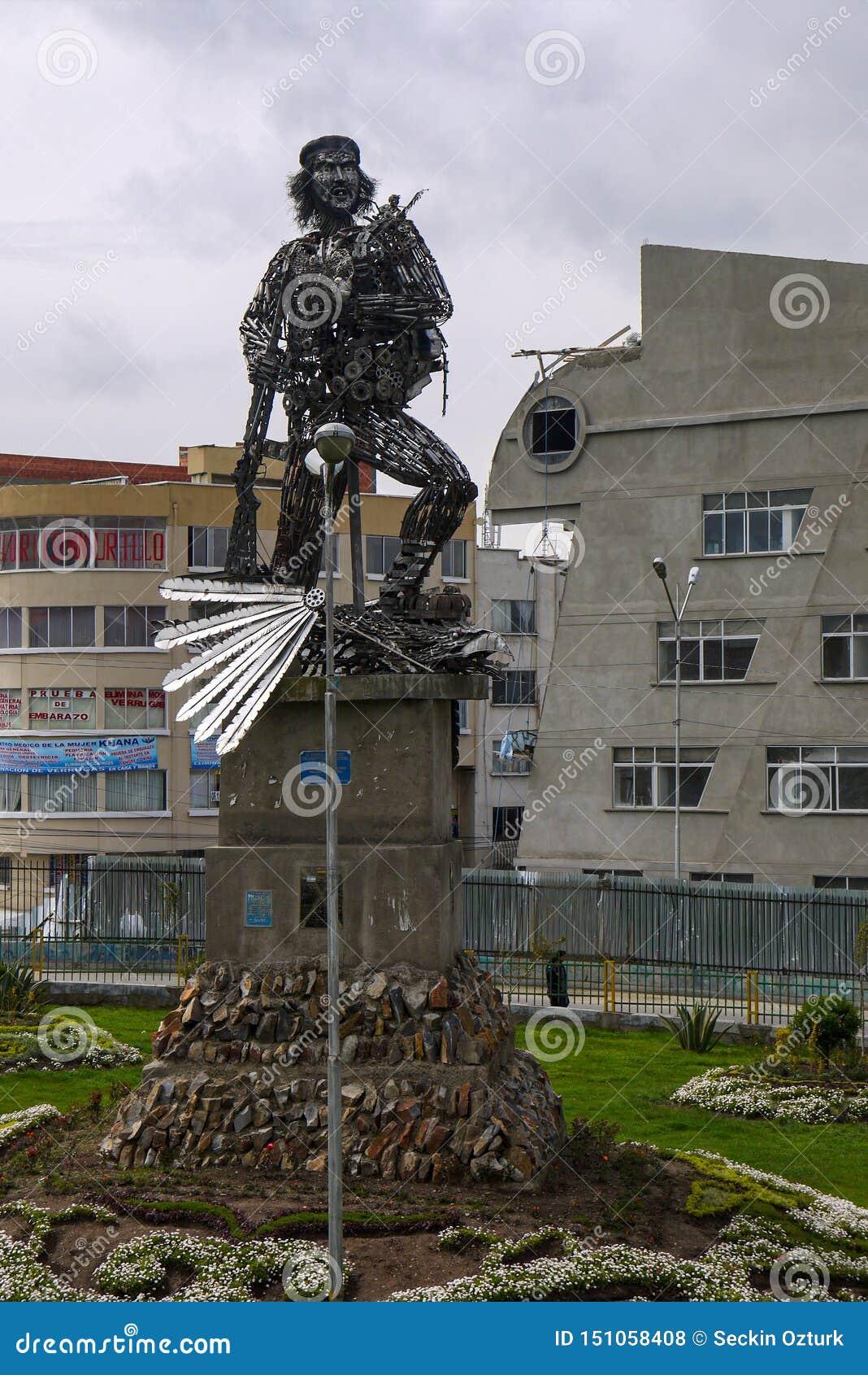 Che纪念碑在拉巴斯市,玻利维亚