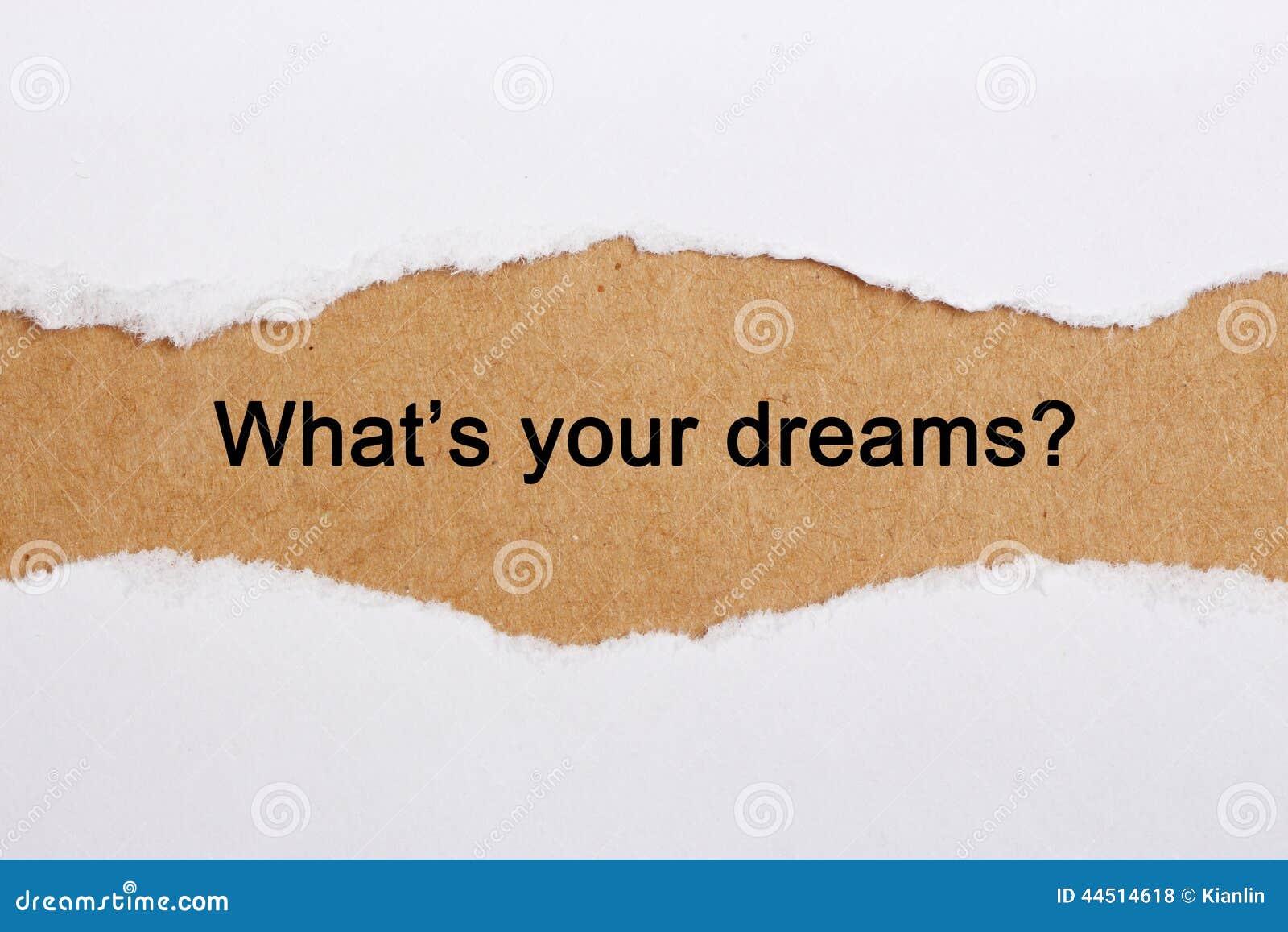 Che cosa è i vostri sogni