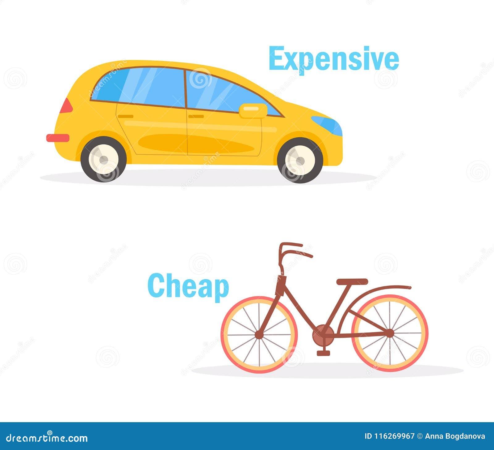 Cheap Expensive Vector. Cartoon Stock Vector