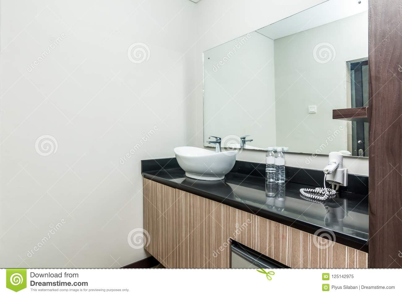 Cheap And Small Hotel Bathroom Stock Image - Image of toilet ...