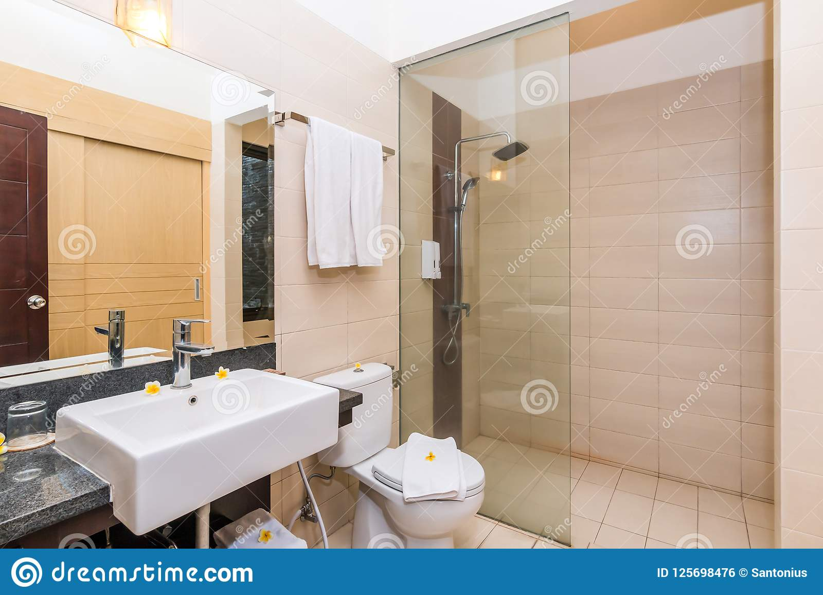 Cheap And Small Hotel Bathroom Stock Photo Image Of Beautiful Soap 125698476