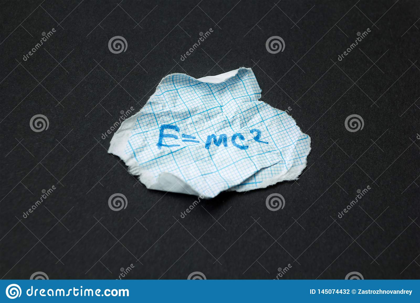 Cheat Sheet On Physics  E=mc2 Stock Illustration