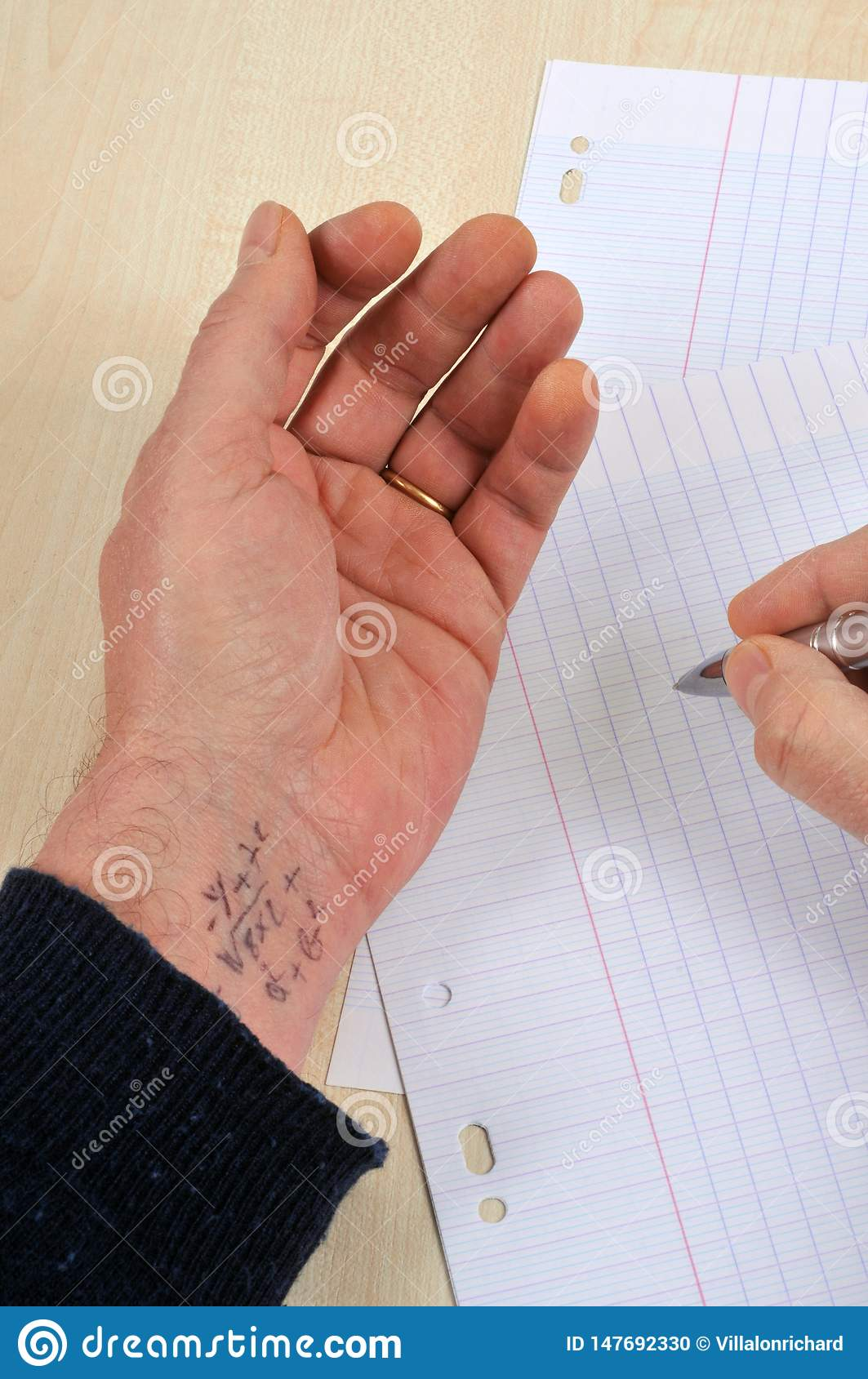 Cheating During A School Exam Stock Photo - Image of school