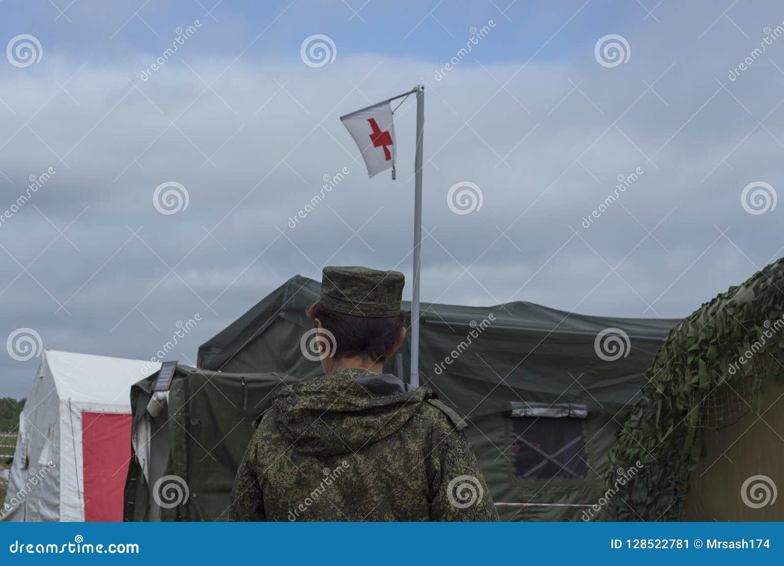 Chebarkul. russia August 04,2018 military - field hospital.