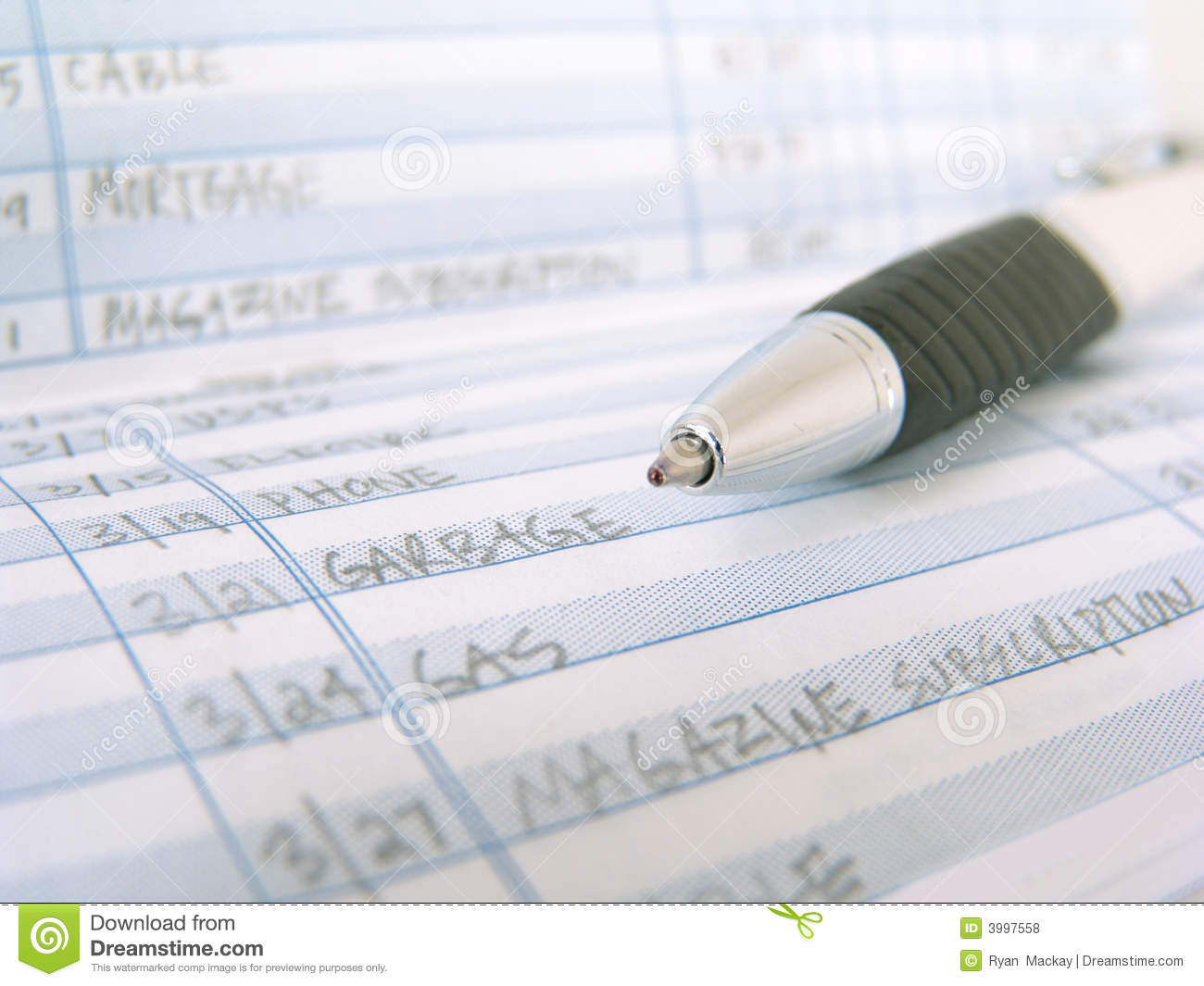 check book register stock photo image of notate checking 3997558
