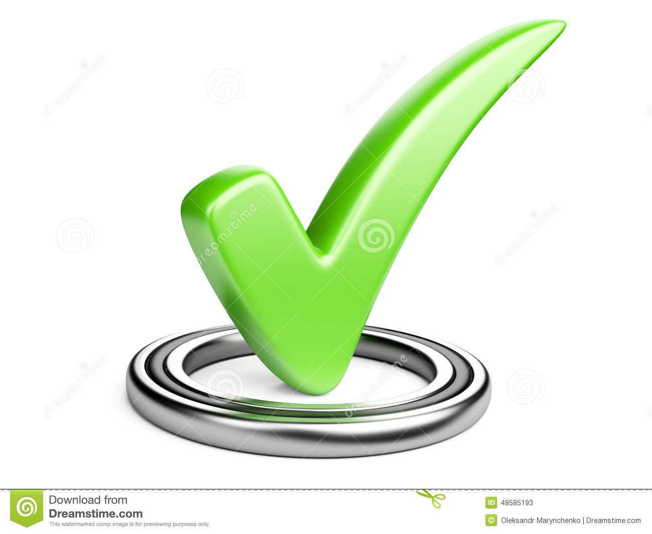 Check Box With Green Check Mark Stock Illustration Illustration Of