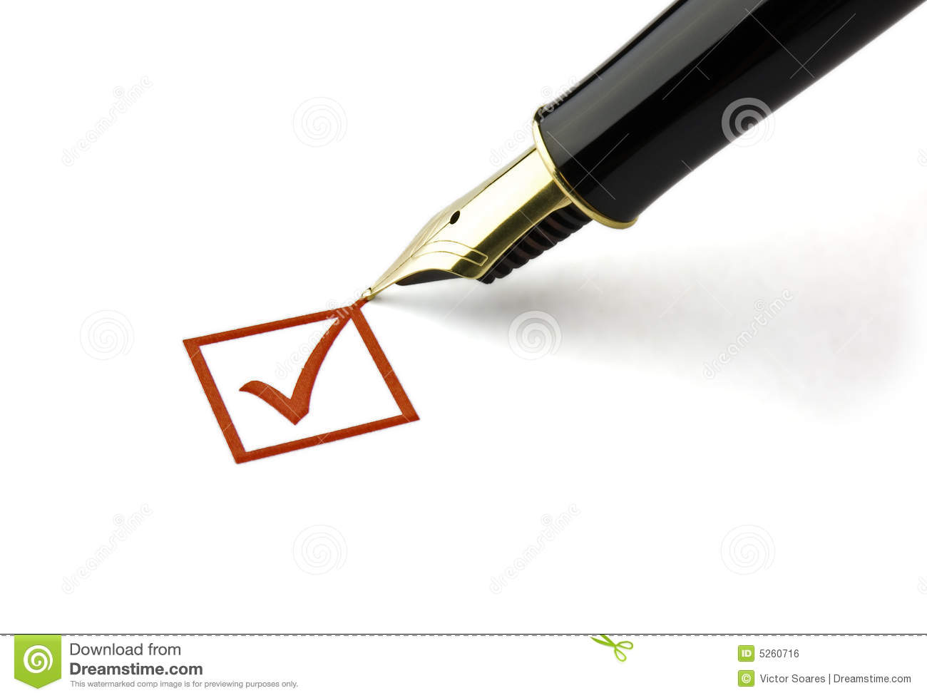 Check Box Ticked Stock Photo Image Of Gold Opinion Answer 5260716 Fountain Pen Parts Diagram Ticking A
