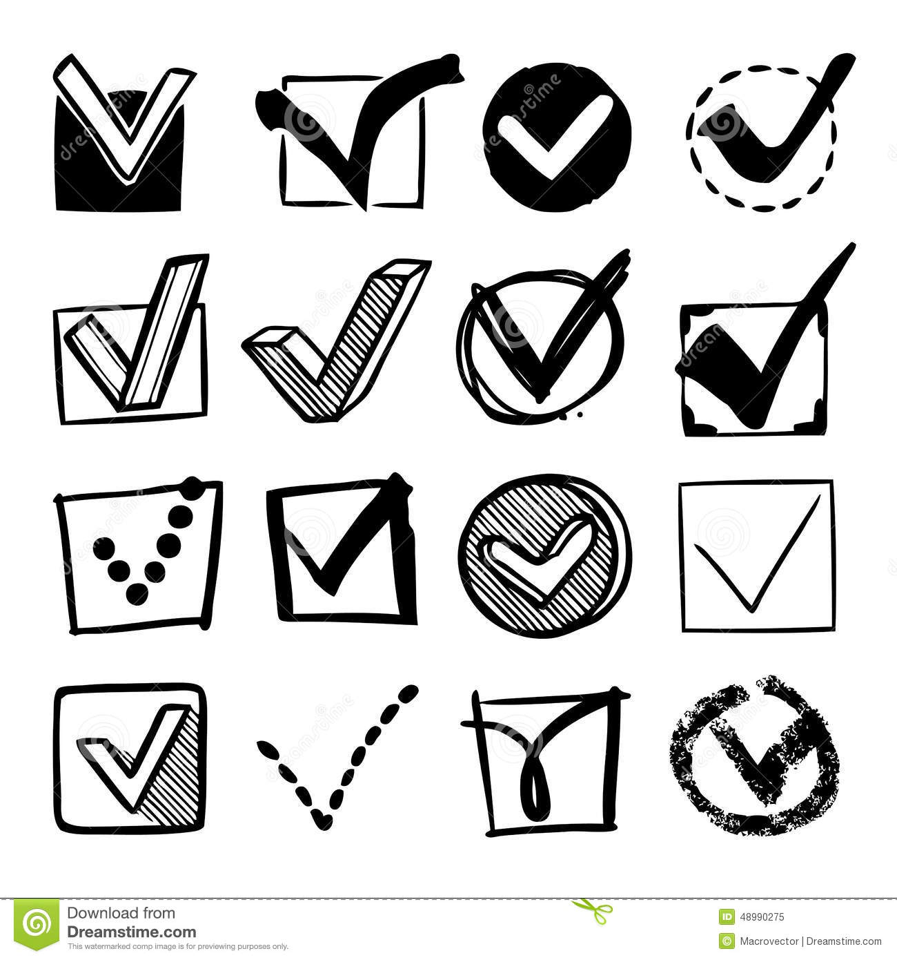 Check boxes set stock vector illustration of checklist 48990275 check boxes set biocorpaavc Gallery